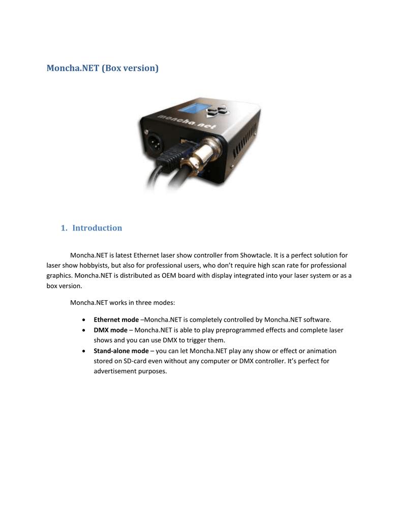 Moncha NET (Box version) | manualzz com