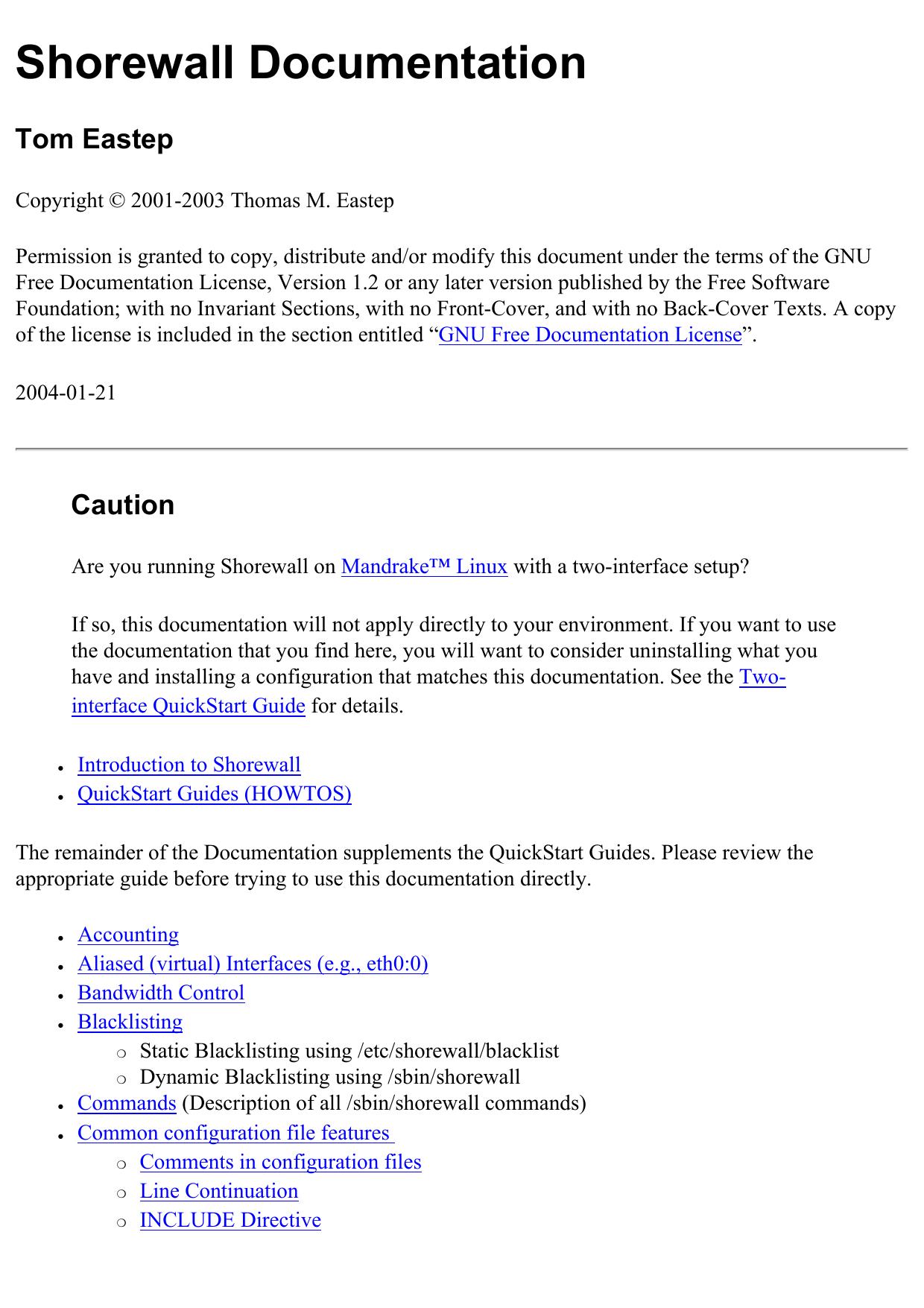 Tom Eastep - Apache2 Ubuntu Default Page: It works