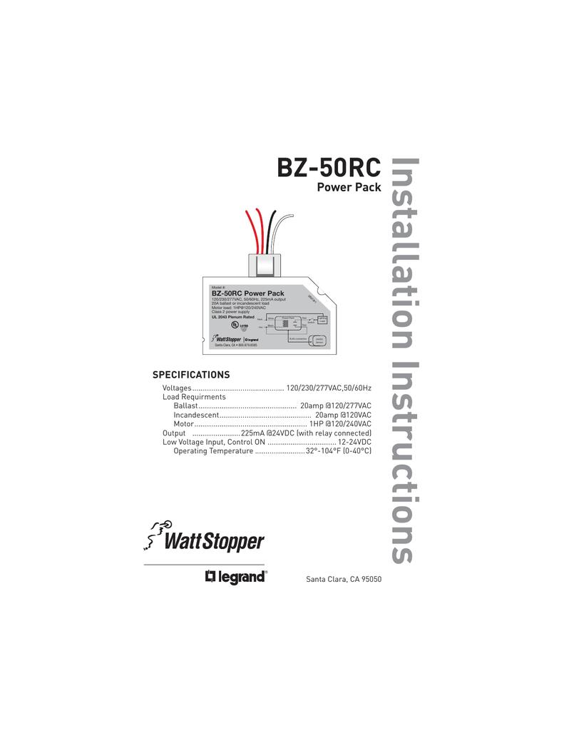 Watt Stopper Power Pack Wiring Diagram from s3.manualzz.com