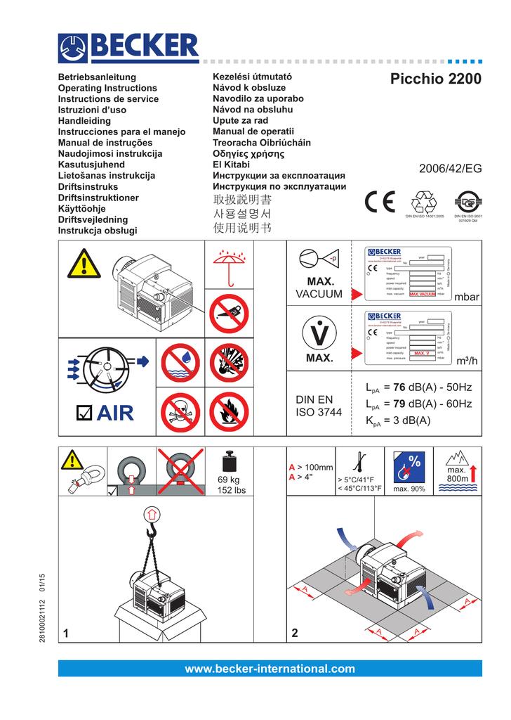 Manuals/Parts Lists | Becker Pumps Corporation