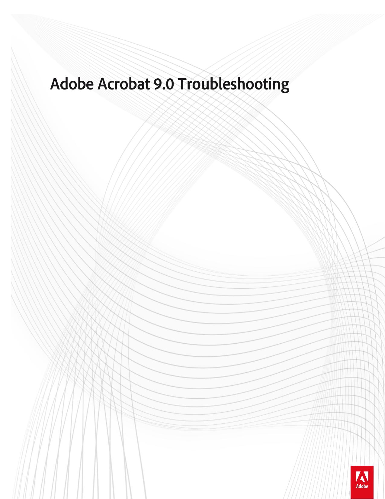 Adobe Acrobat 9 0 Troubleshooting   manualzz com