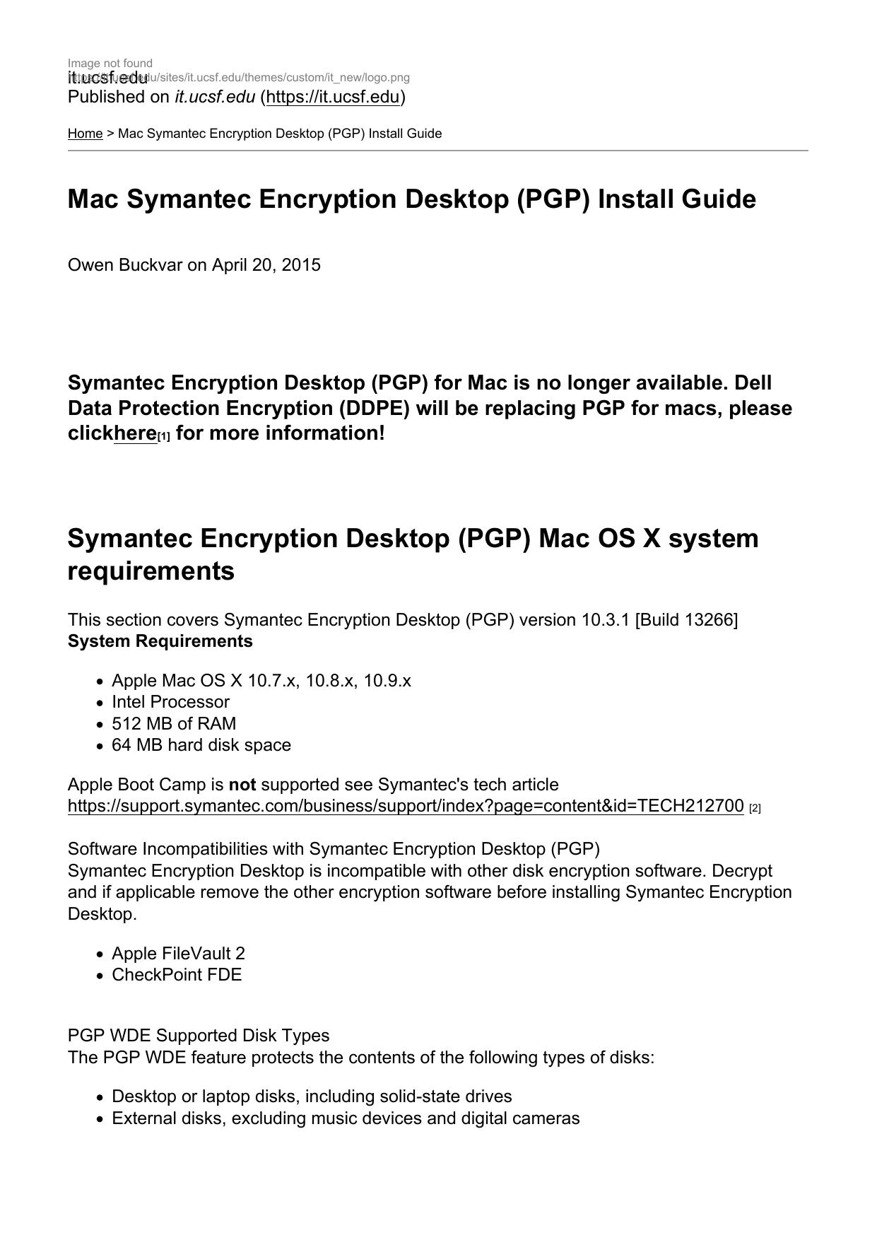 Mac Symantec Encryption Desktop (PGP) Install Guide | manualzz com