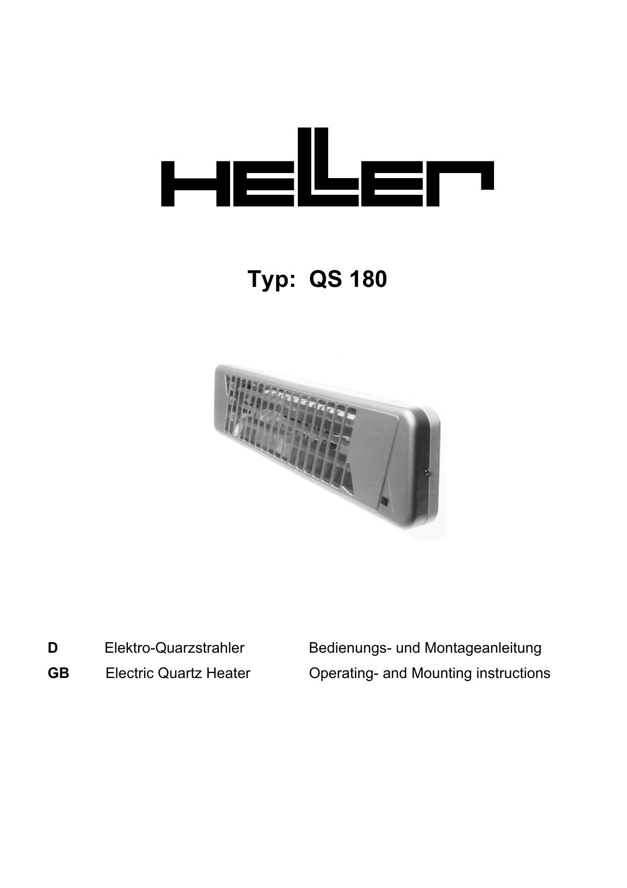 HELLER HEL QS 120 Quarzstrahler 1200W QS 120