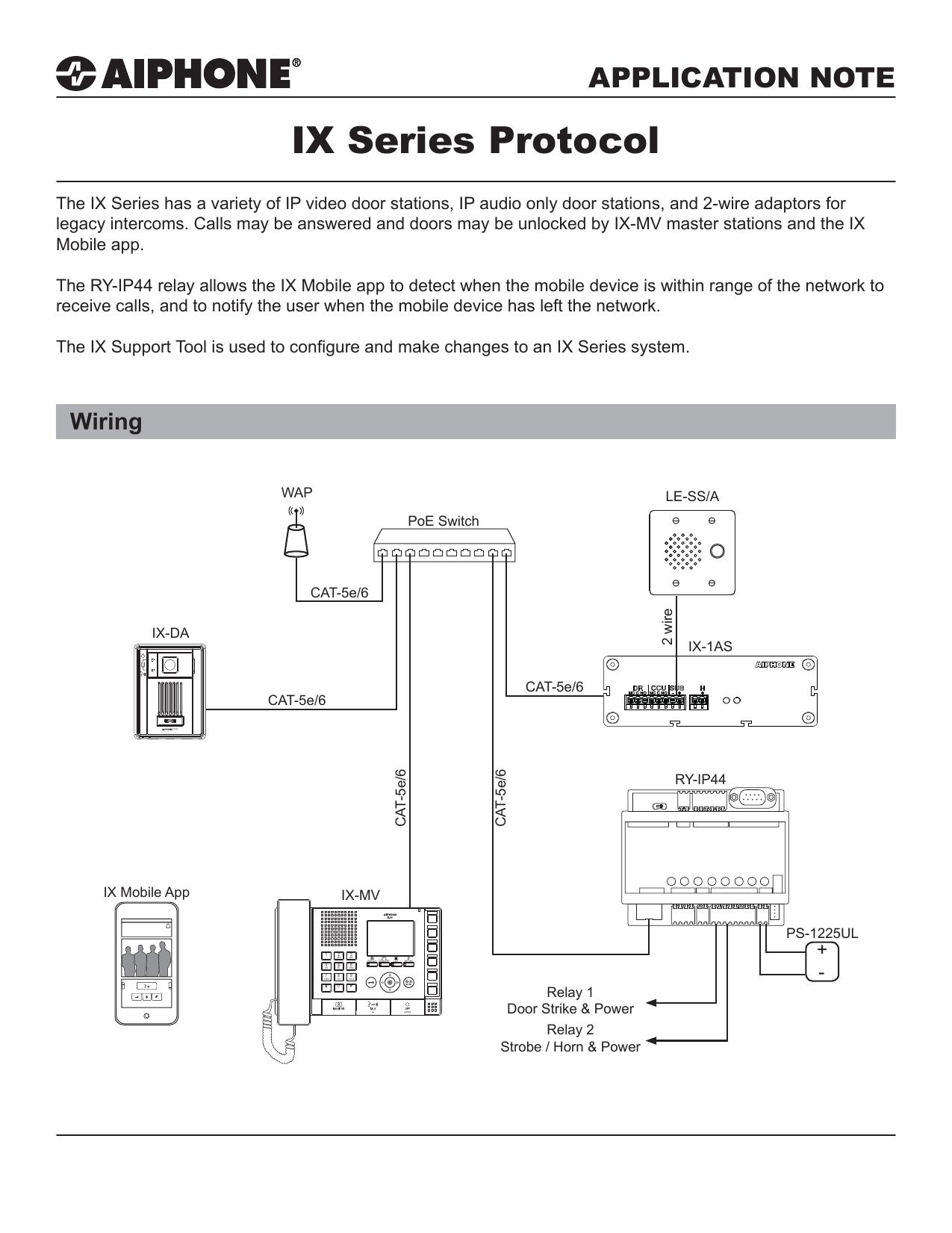 Aiphone Ix Mv Wiring Diagram