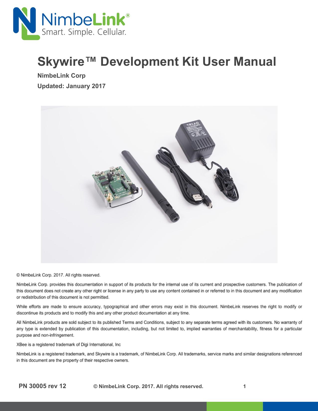 Skywire™ Development Kit User Manual | manualzz com