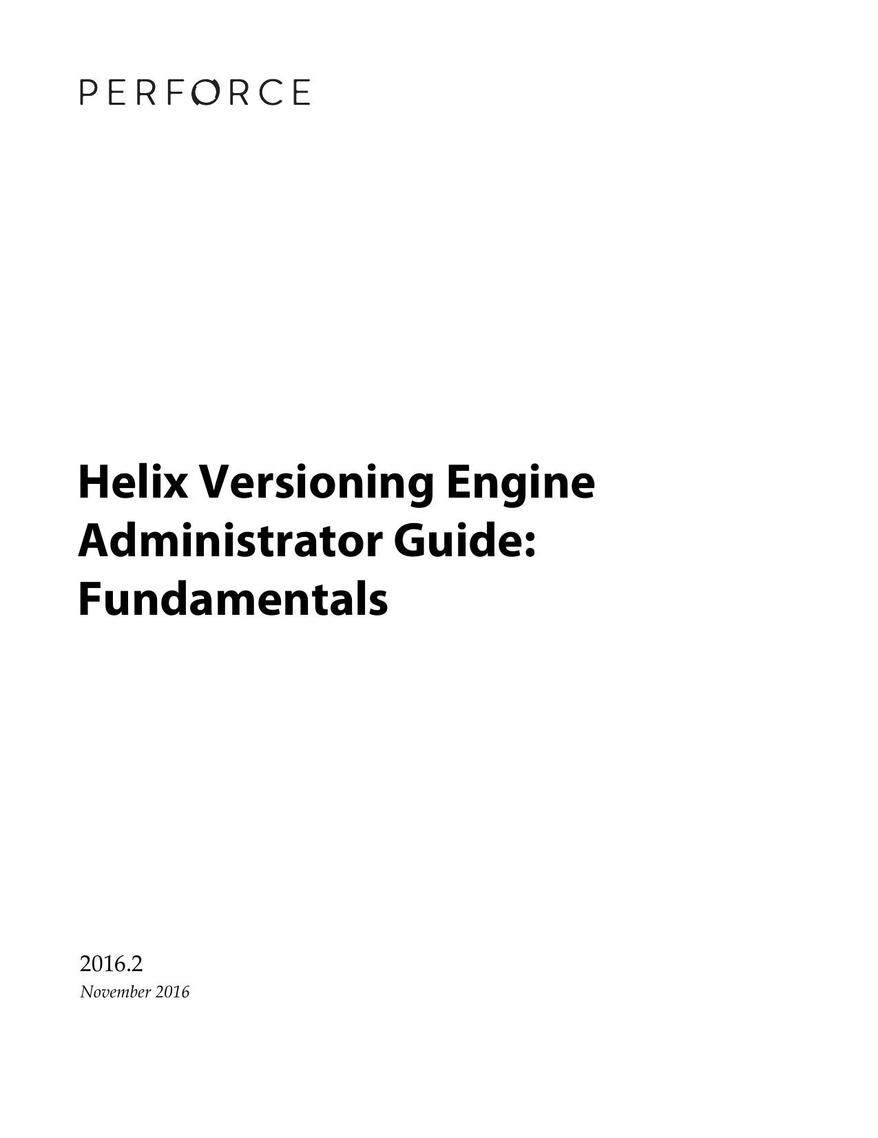 Helix Versioning Engine Administrator Guide | manualzz com