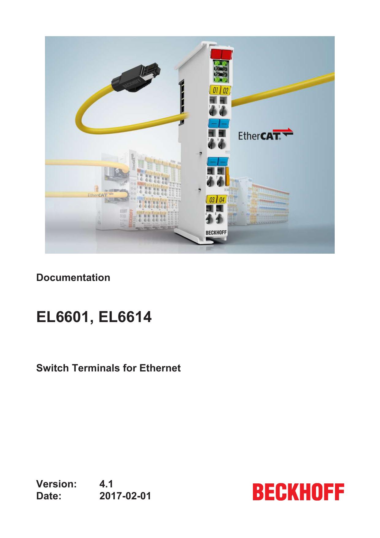 Documentation EL6601, EL6614 - | manualzz com