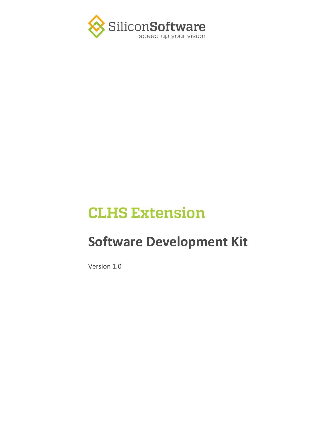 SDK Manual - CHLS Extensions | manualzz com