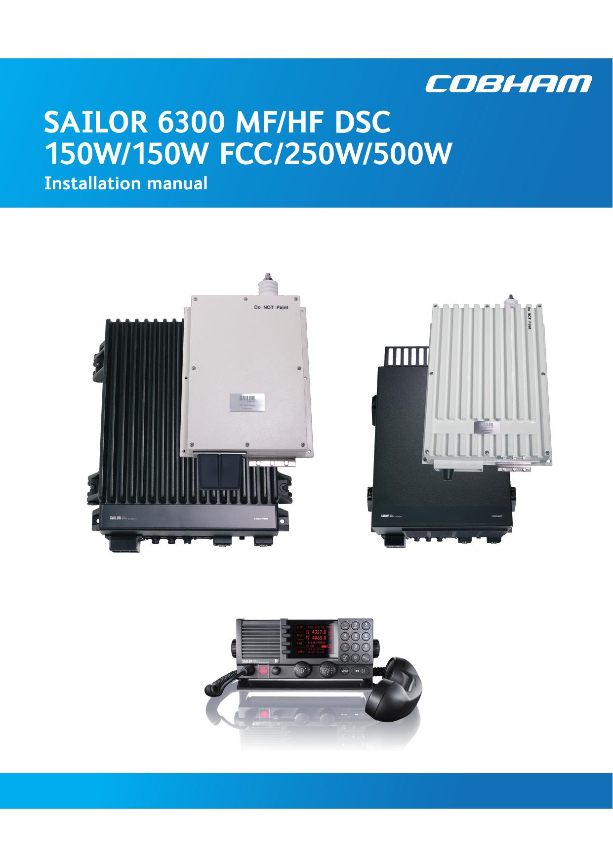 sailor 6300 mf/hf dsc 150w/150w fcc/250w/500w | manualzz com