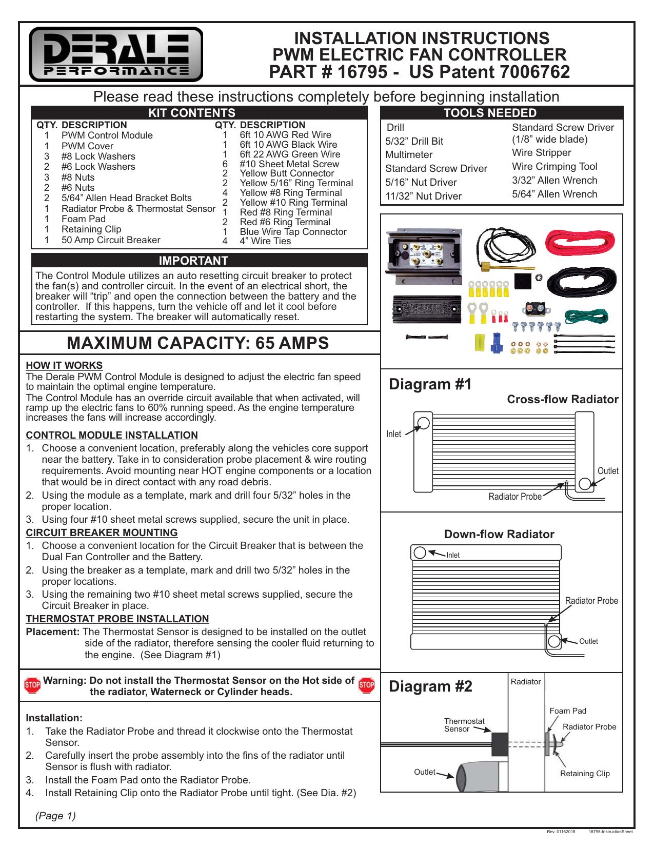 [SCHEMATICS_48EU]  16795 - Derale Performance® Universal PWM Fan Controller | Manualzz | Derale Fan Controller Wiring Diagram |  | manualzz