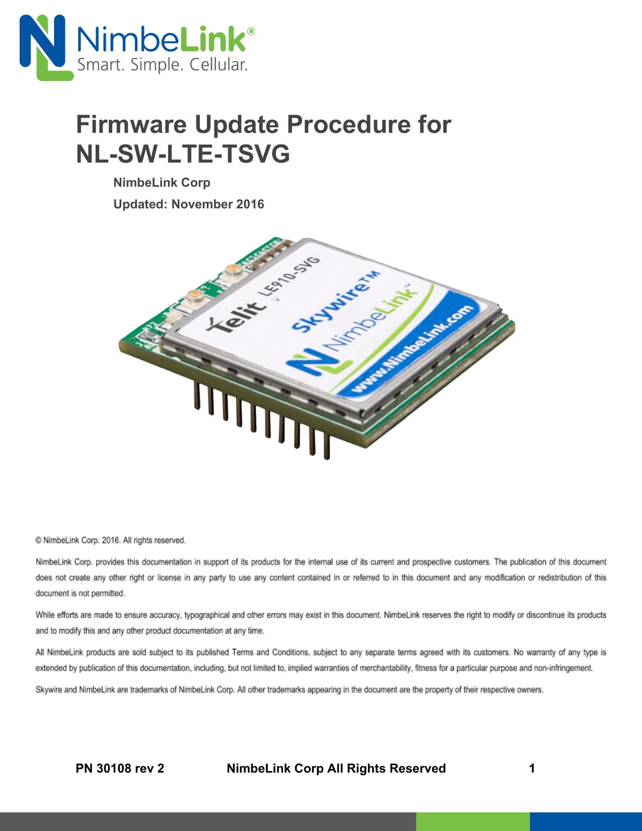 Firmware Update Procedure for NL-SW-LTE-TSVG | manualzz com