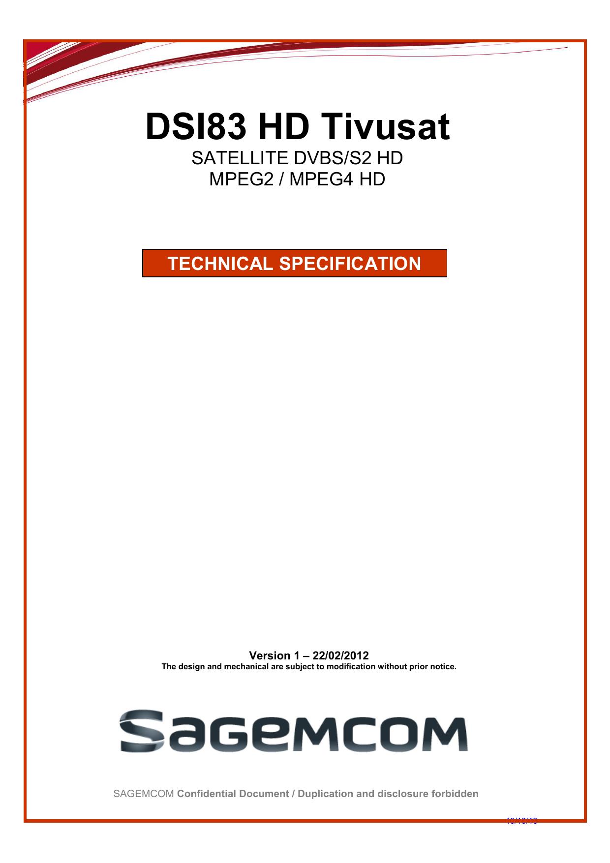 DSI83 HD Tivusat | manualzz com