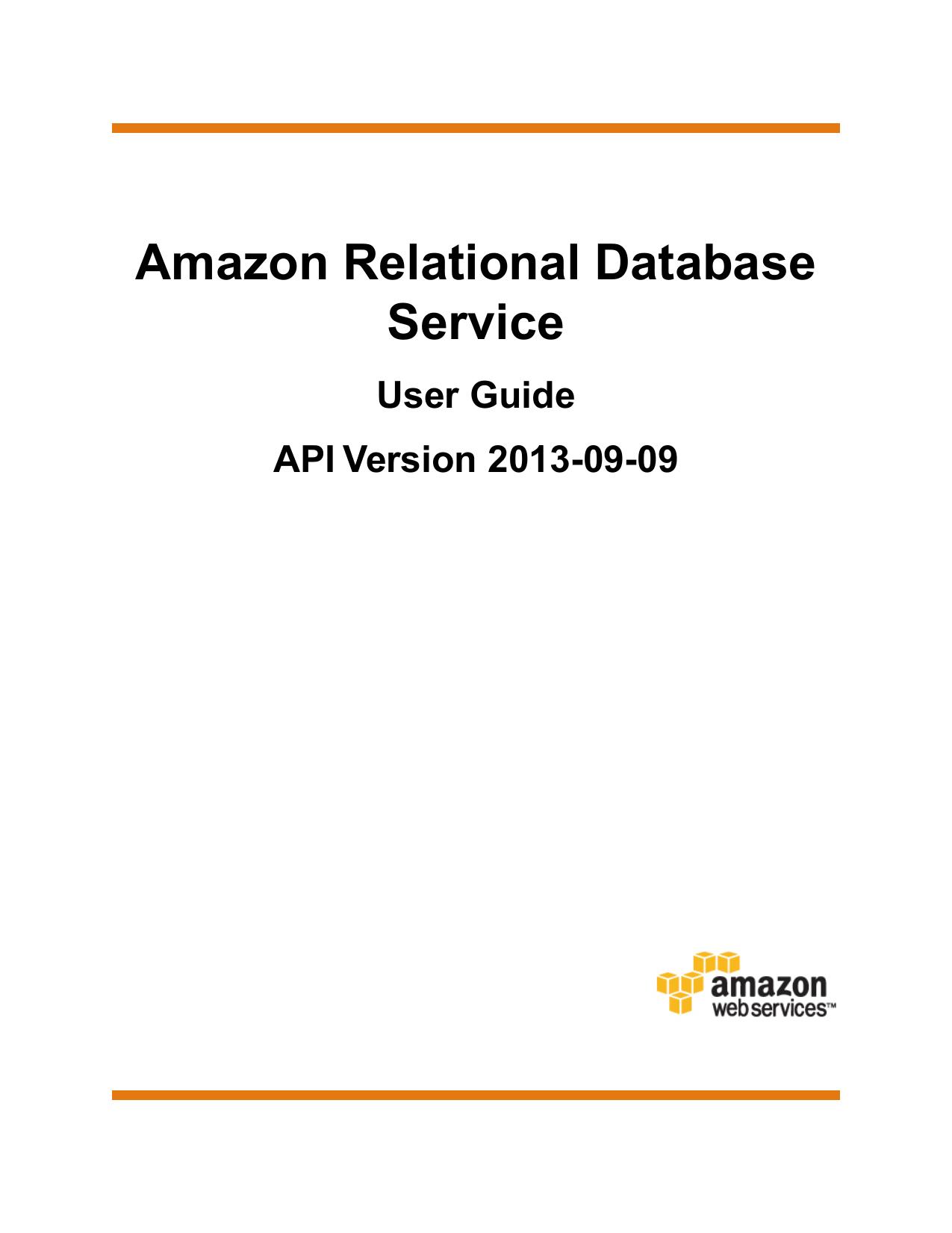 Amazon Relational Database Service | manualzz com
