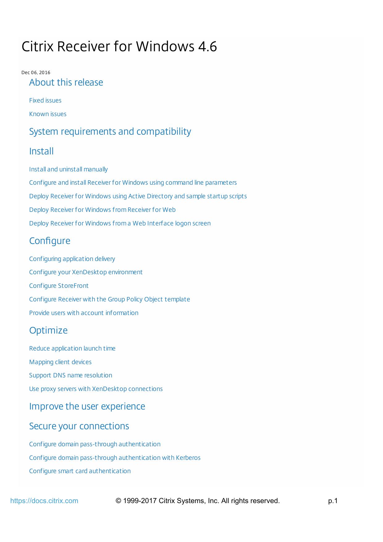 Citrix Receiver for Windows 4 6 | manualzz com