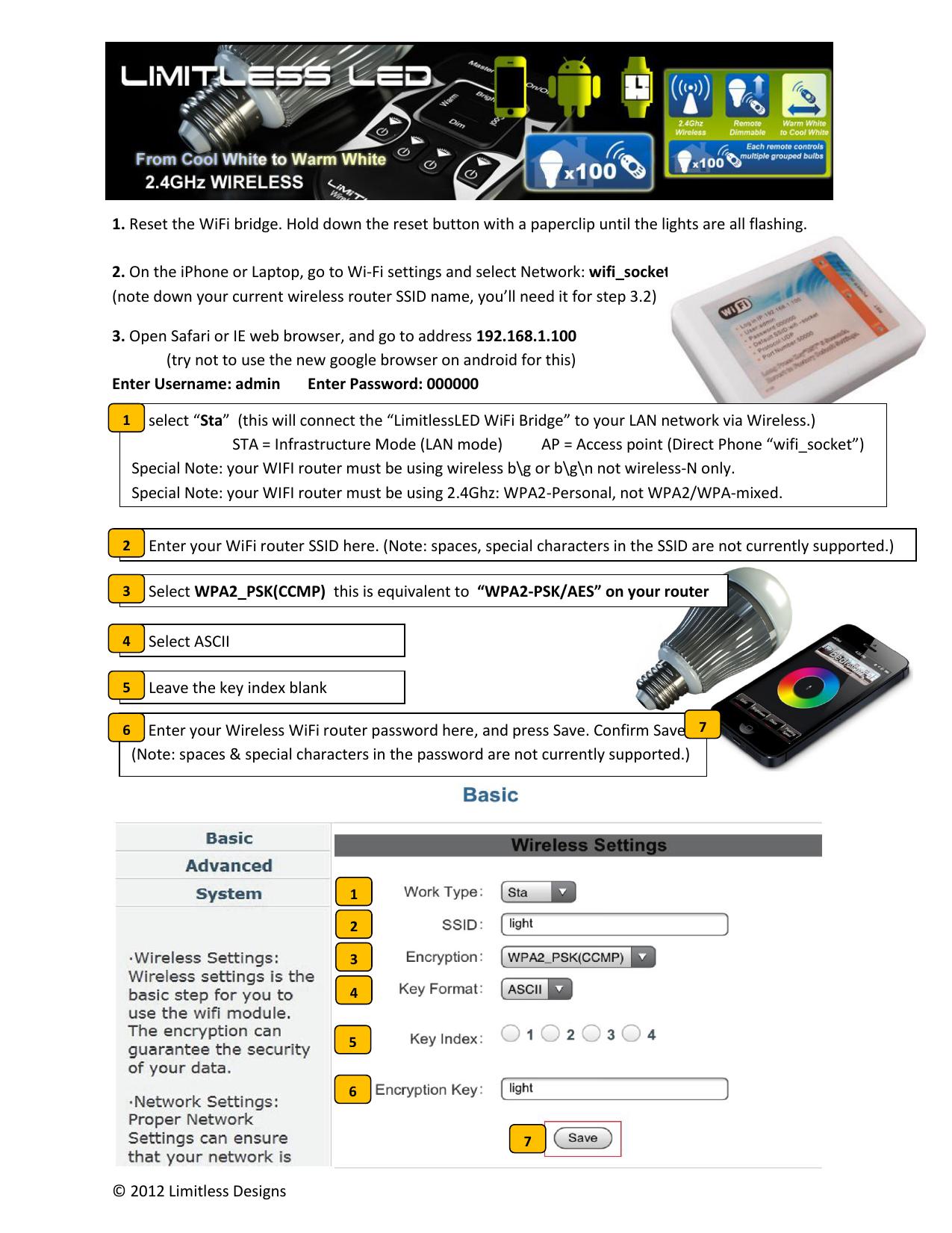 2012 Limitless Designs 1  Reset the WiFi bridge   manualzz com