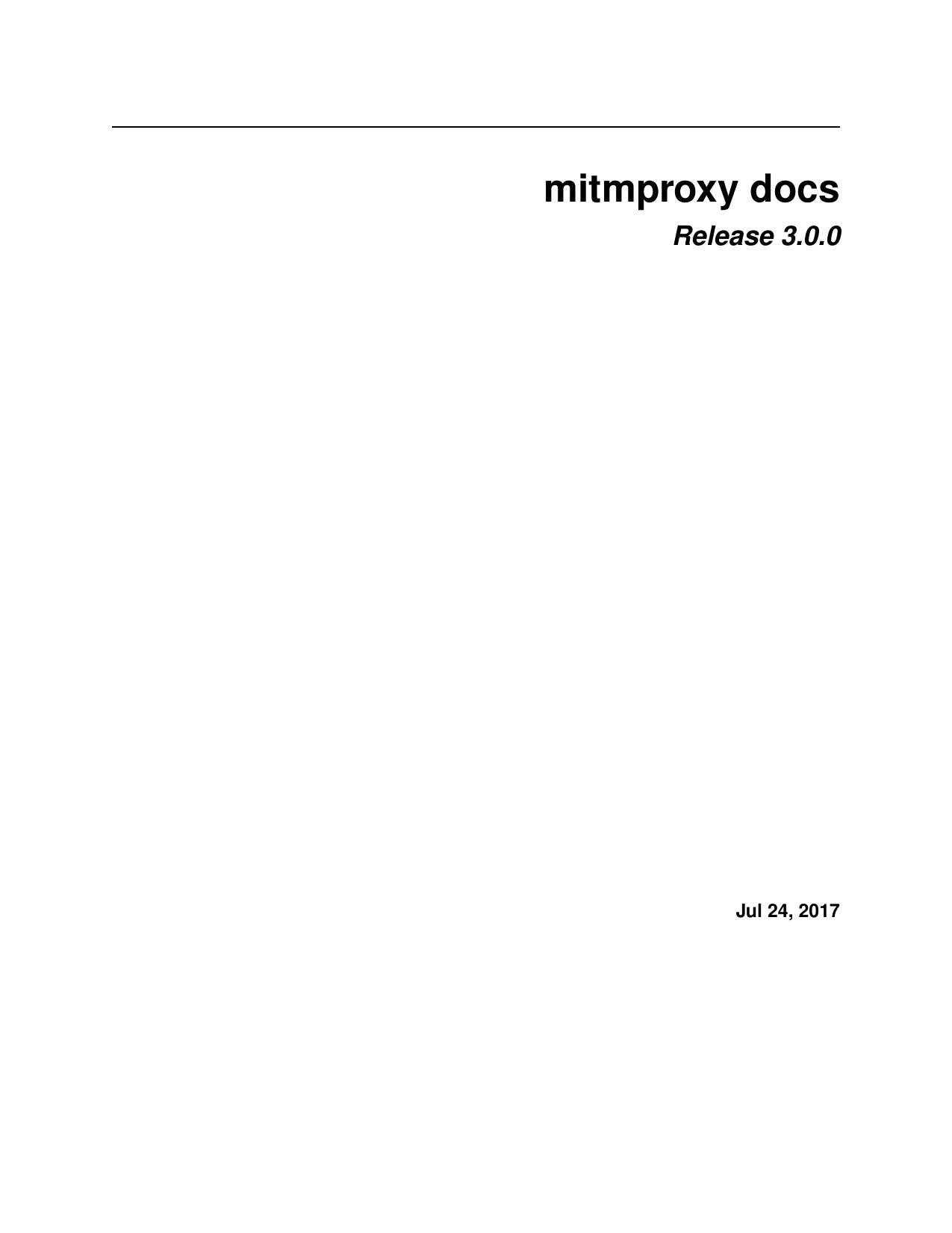 mitmproxy docs - Read the Docs   manualzz com