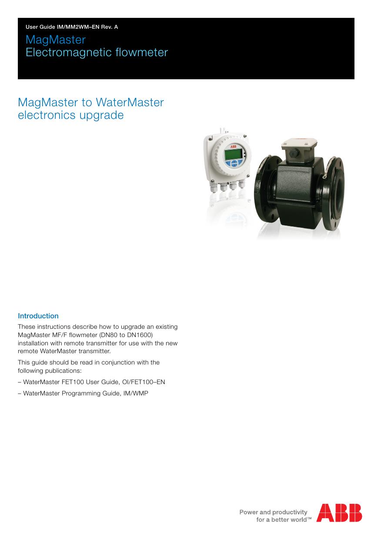 MagMaster to WaterMaster electronics upgrade | manualzz.com on