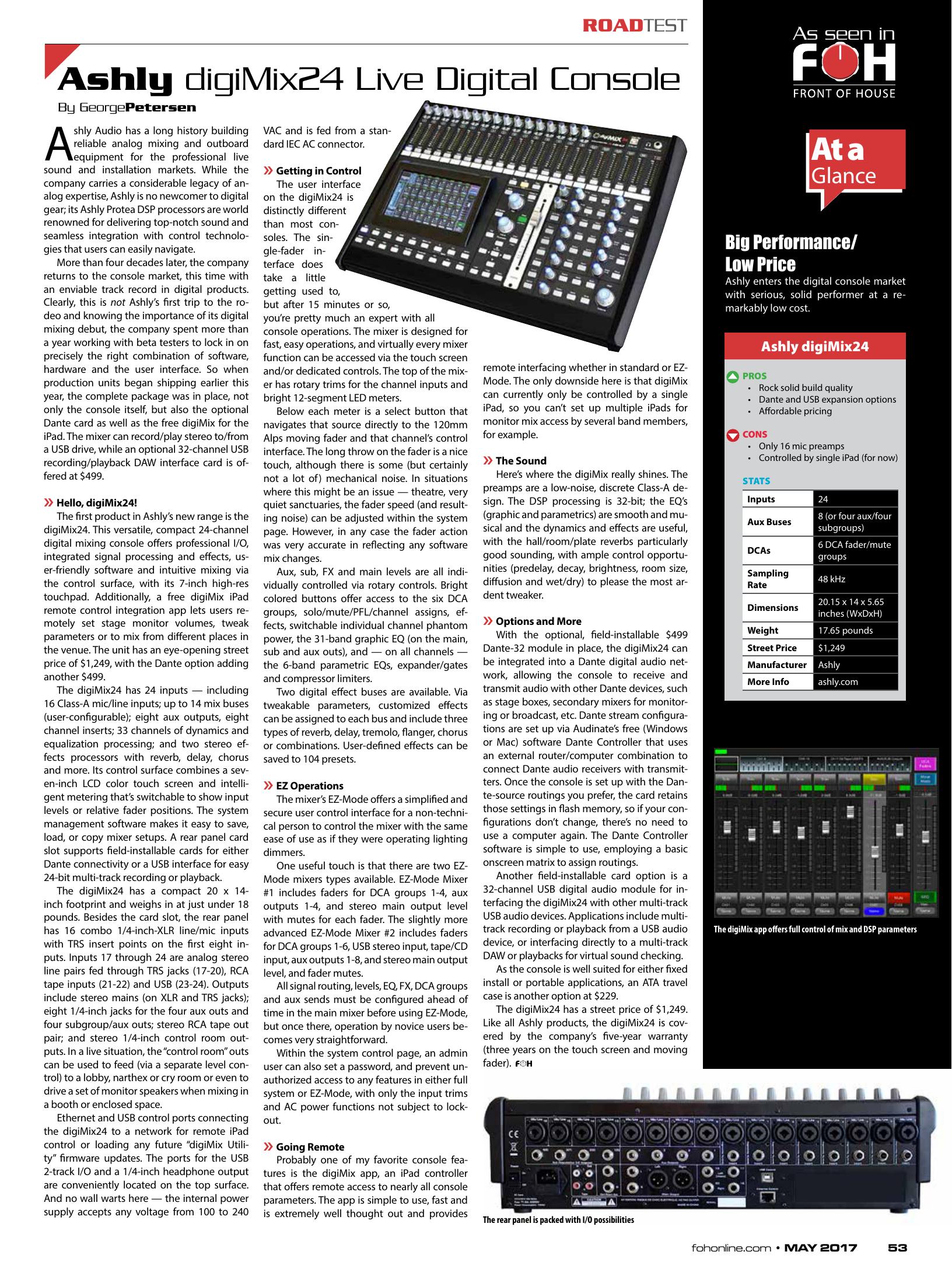 Ashly digiMix24 Live Digital Console   manualzz com