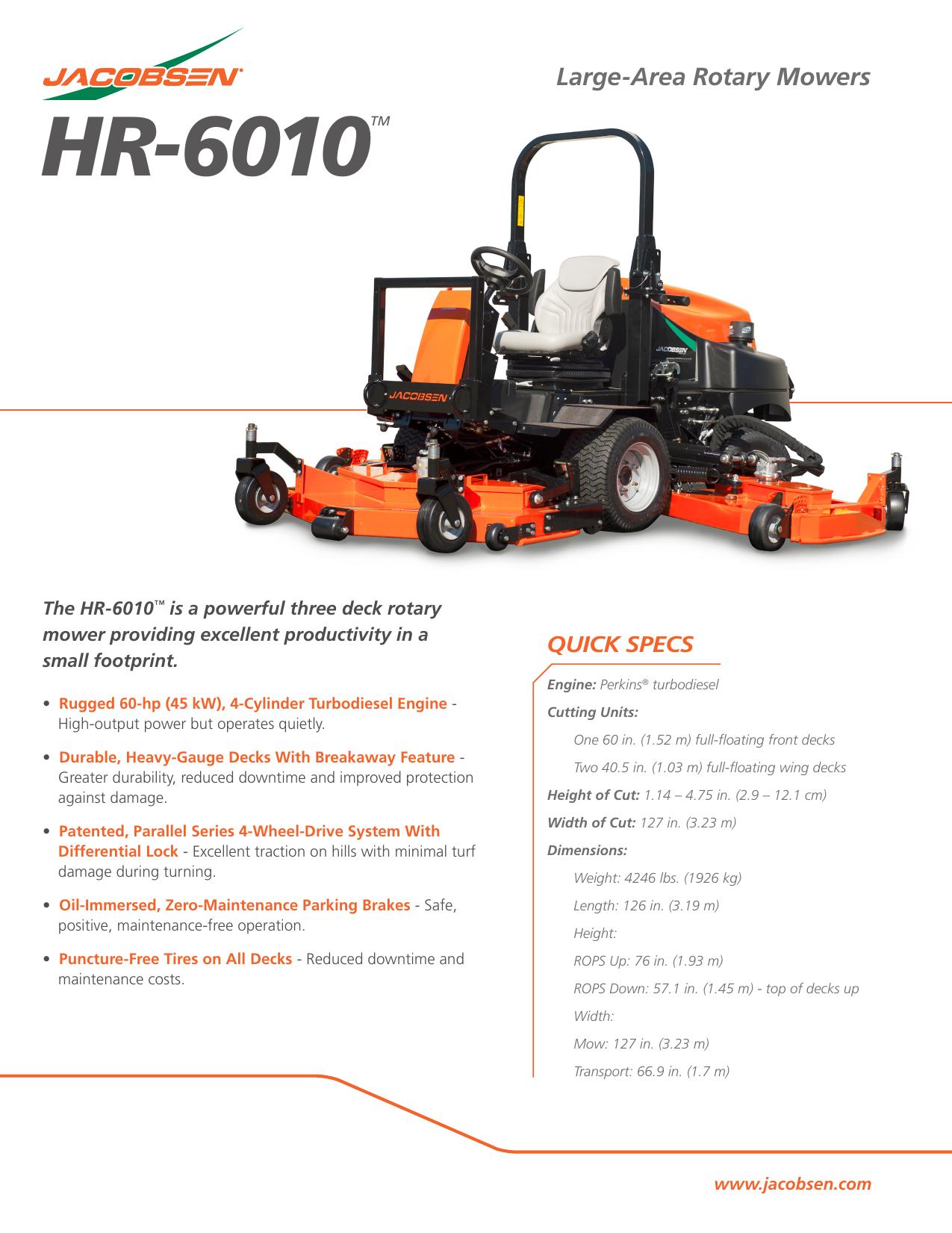 HR-6010TM - Jacobsen   manualzz com
