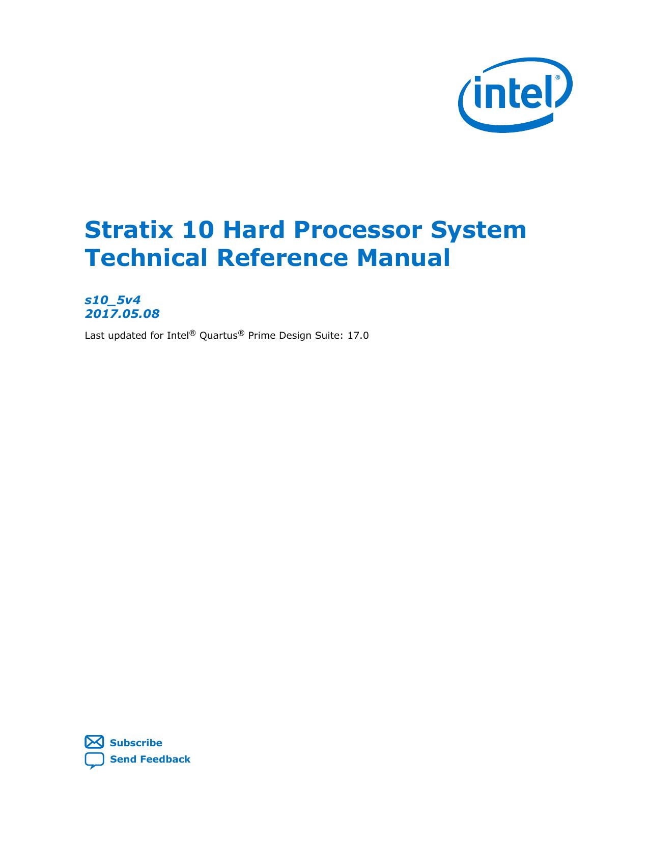 Stratix 10 Hard Processor System Technical Reference   manualzz com