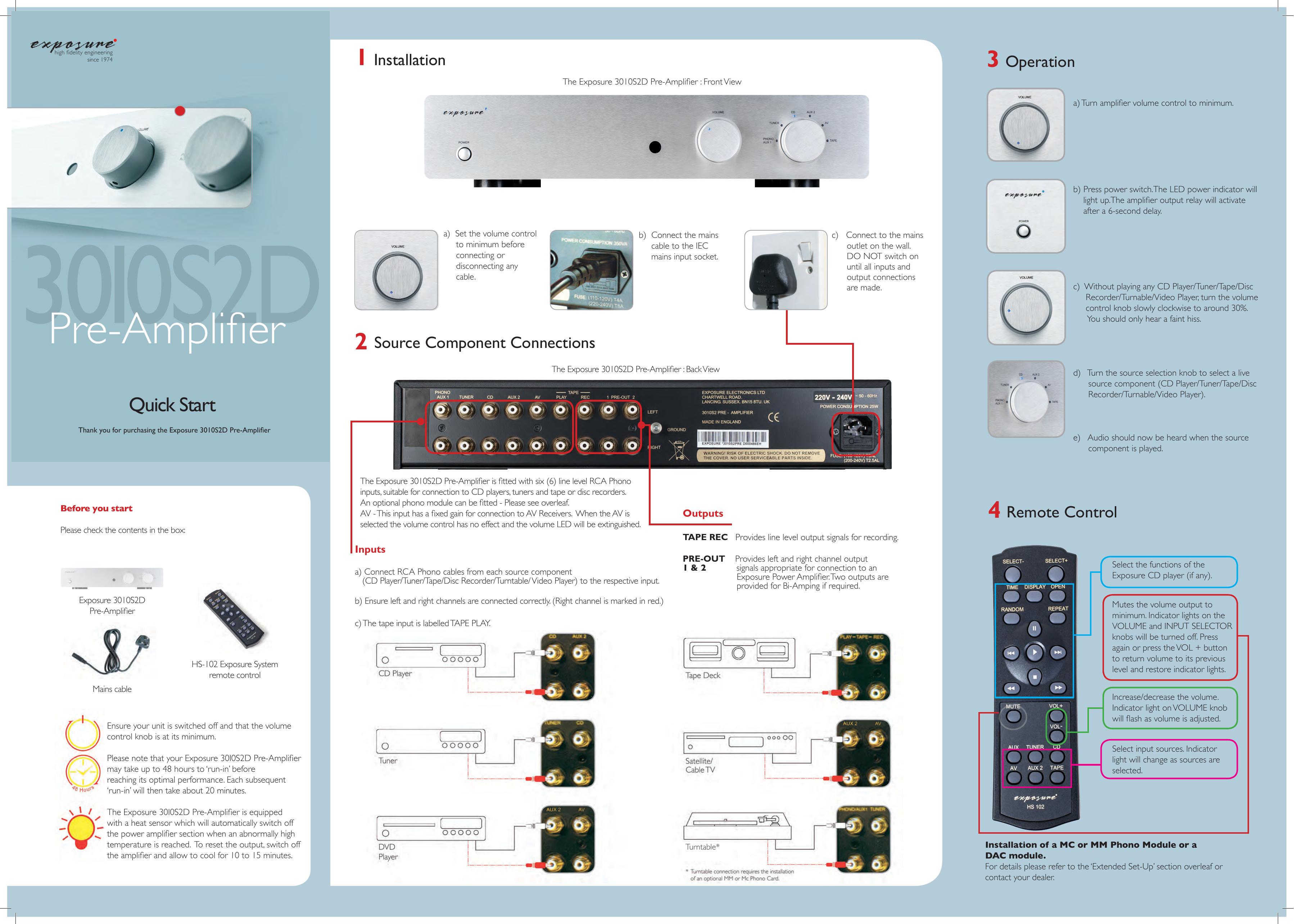 Pre-Amplifier - Exposure Electronics   manualzz com