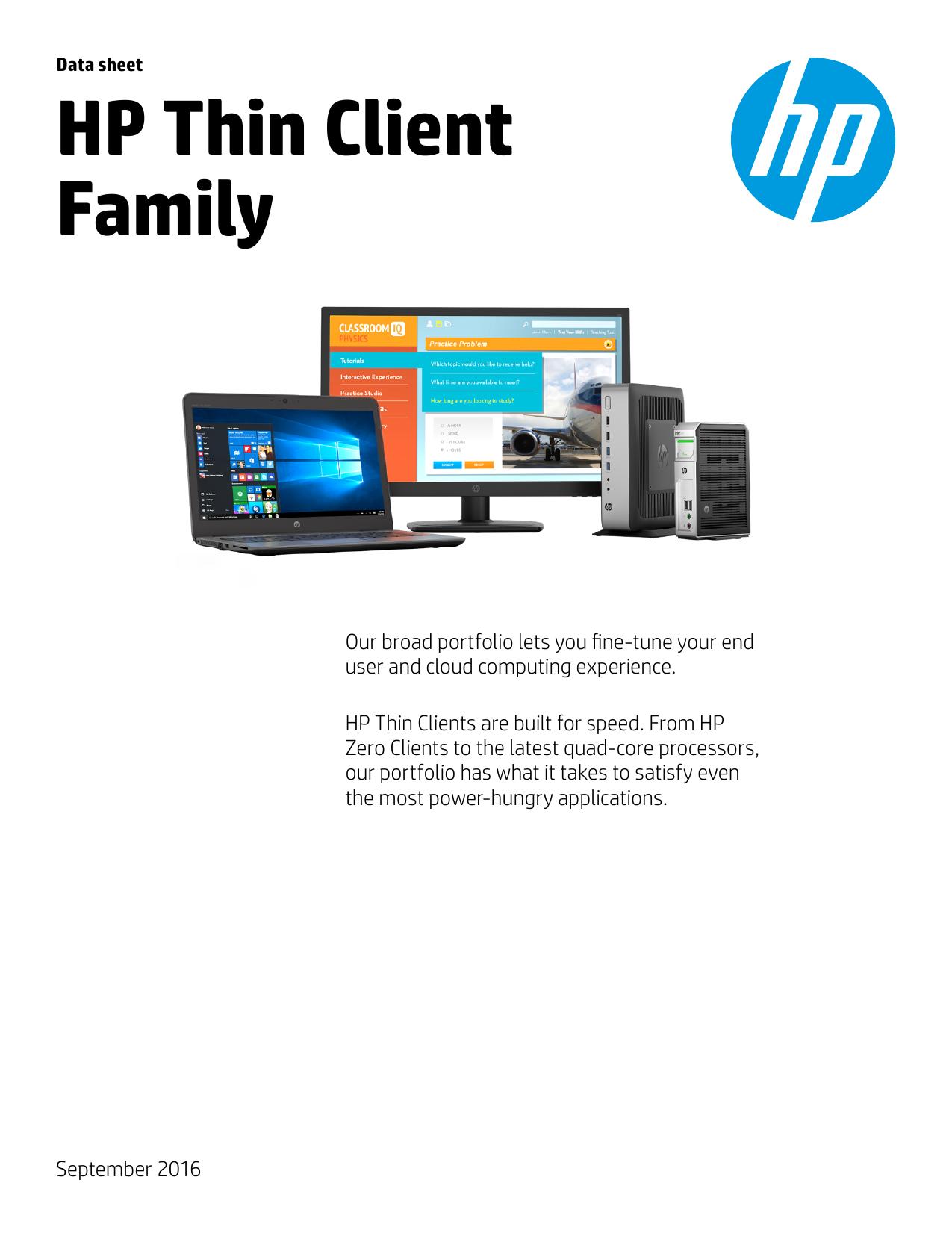 HP Thin Client Family   manualzz com