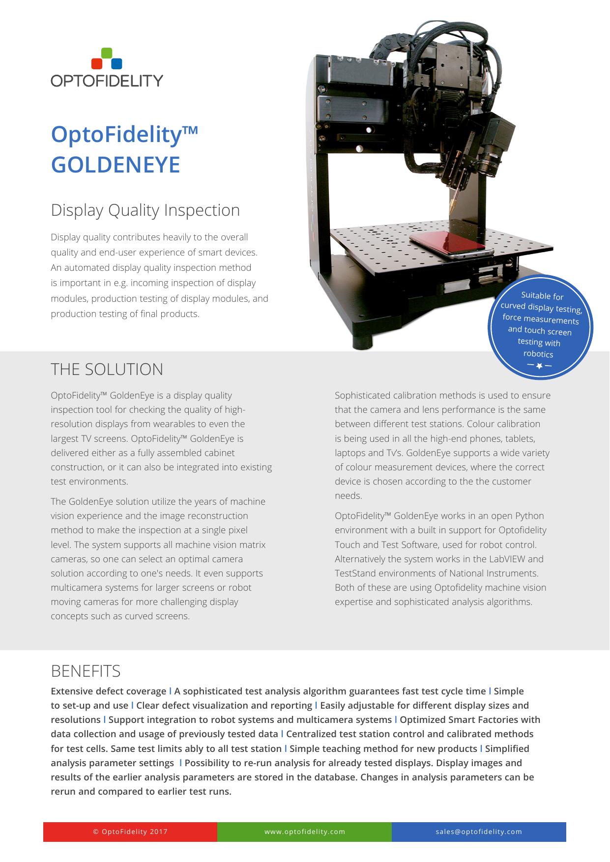 OptoFidelity™ GOLDENEYE   manualzz com