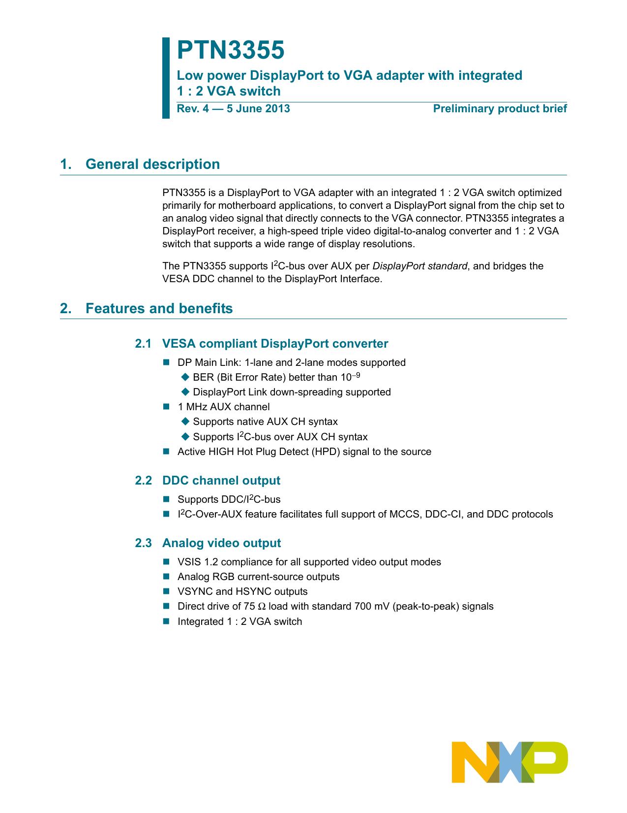 PTN3355 - NXP Semiconductors | manualzz com