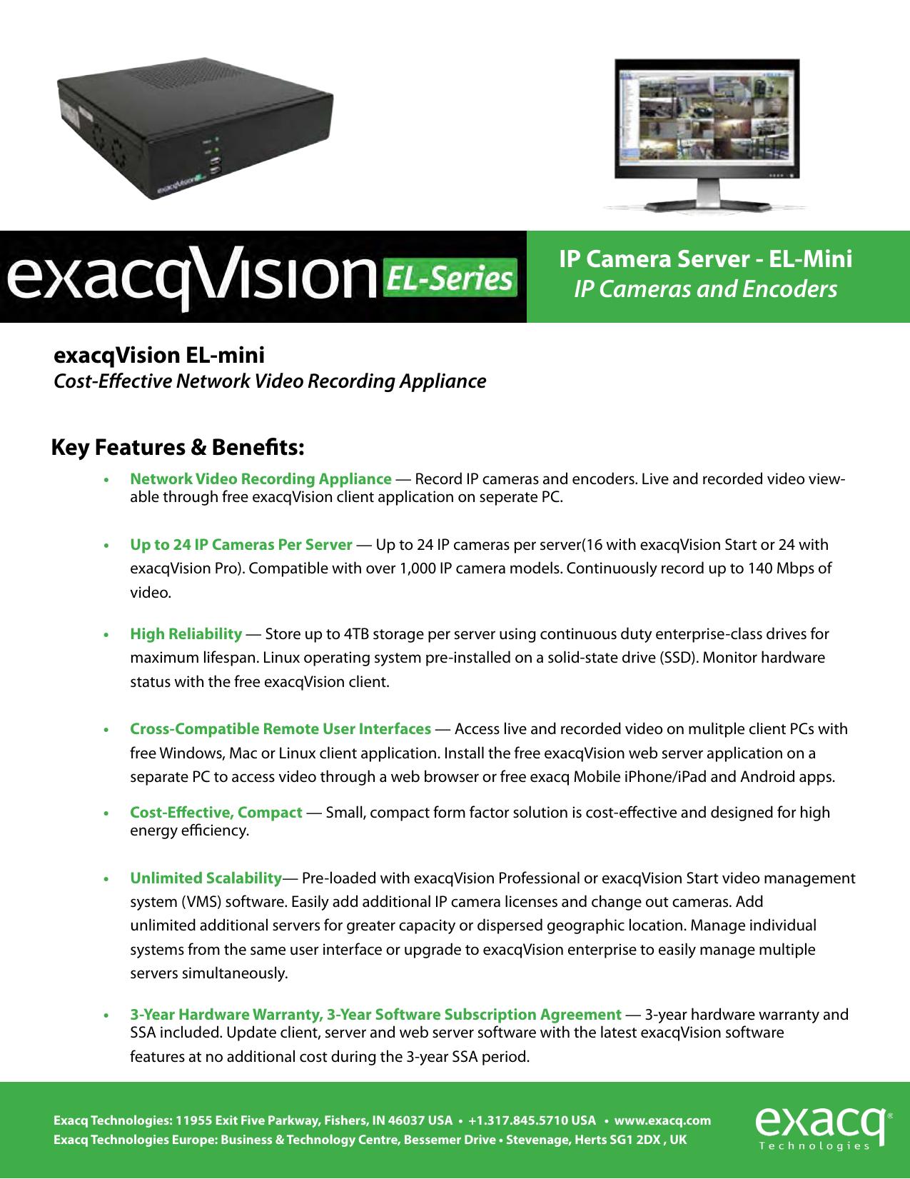 IP Camera Server - EL-Mini IP Cameras and Encoders