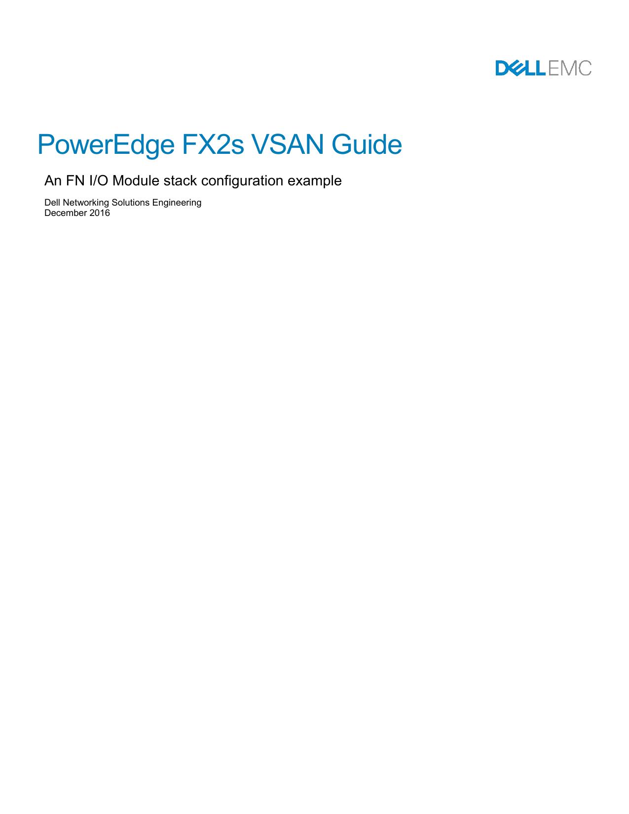 PowerEdge FX2s VSAN Guide | manualzz com