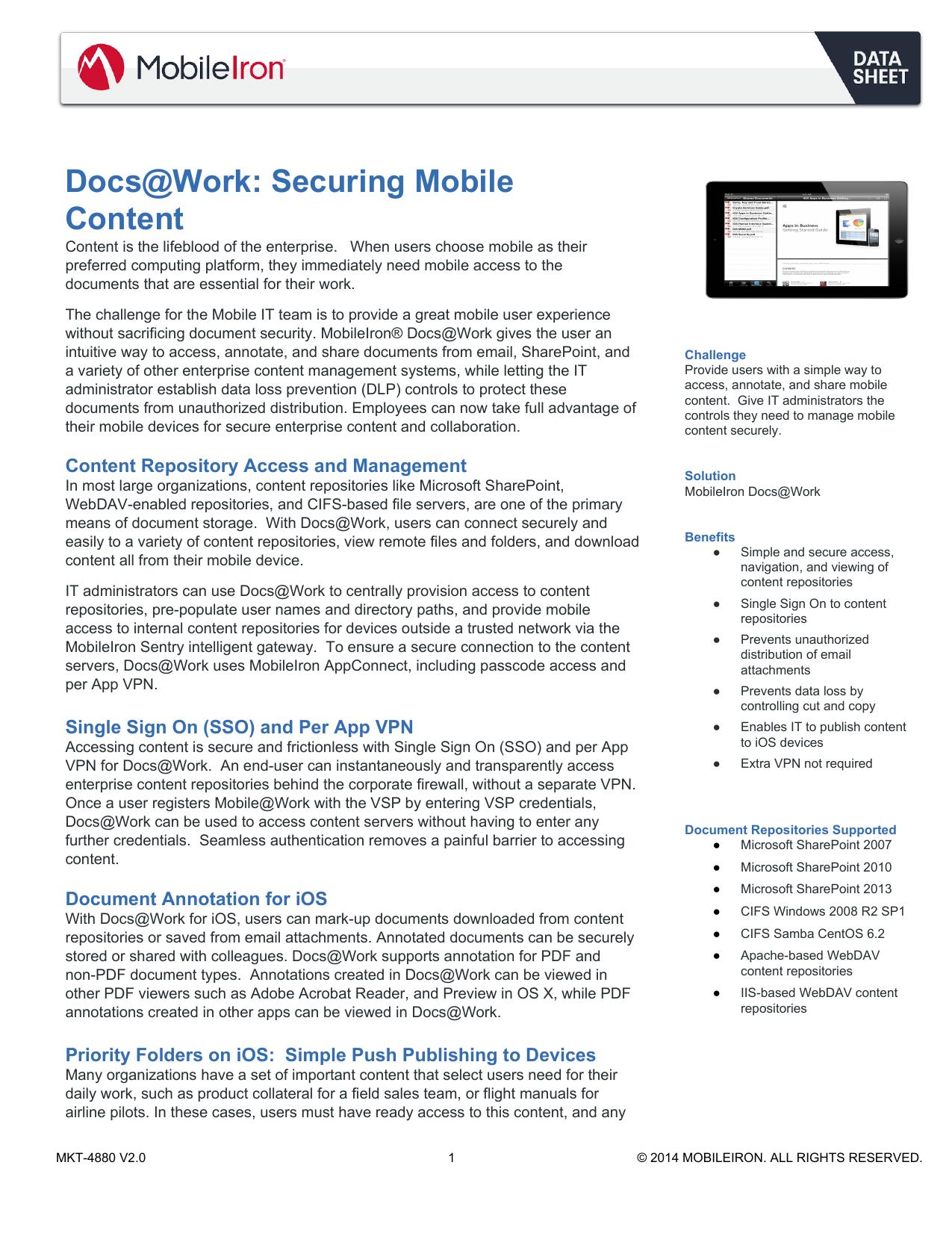 Docs@Work - MobileIron | manualzz com