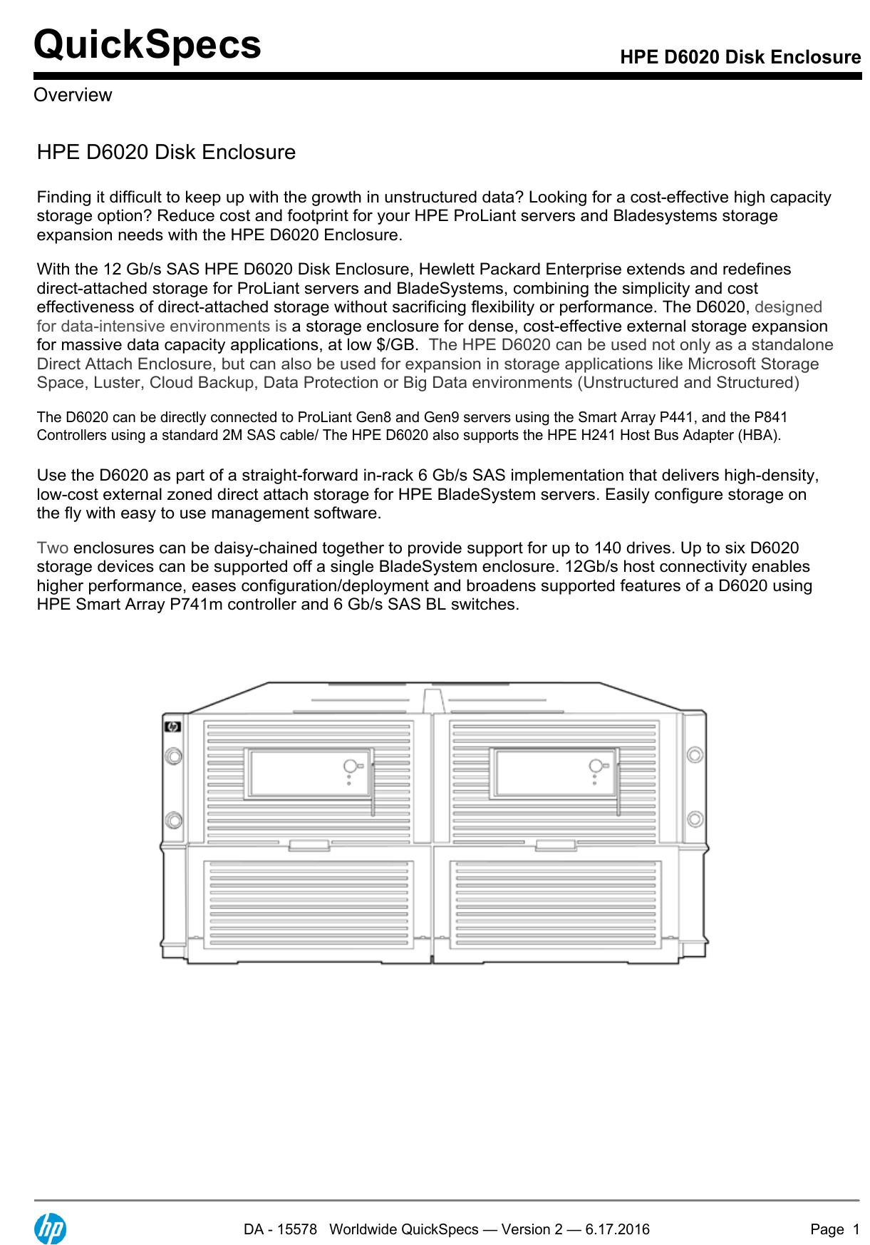 HPE D6020 Disk Enclosure | manualzz com