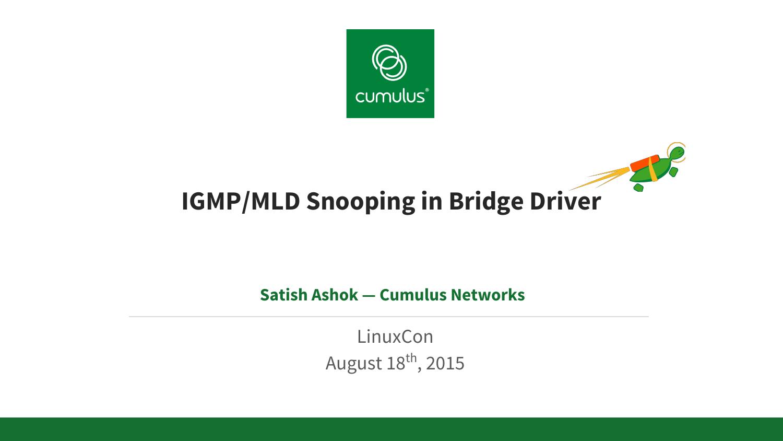 IGMP/MLD Snooping in Bridge Driver   manualzz com