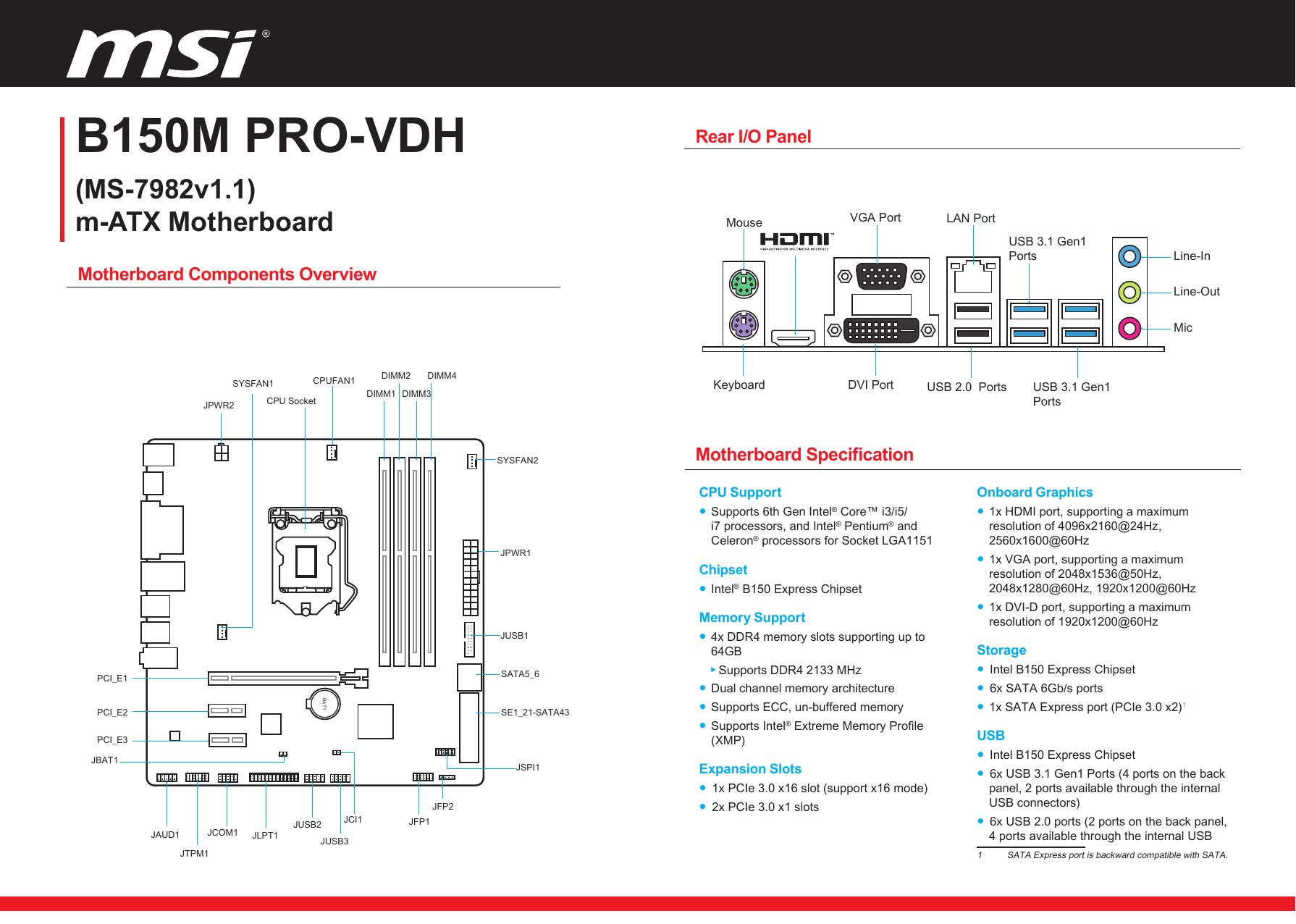 B150M PRO-VDH | manualzz com