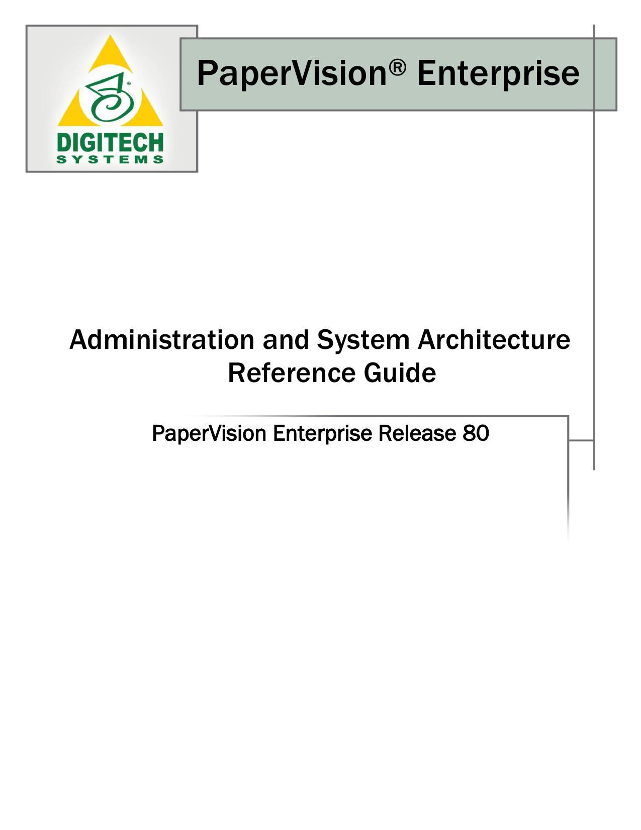 PaperVision® Enterprise | manualzz com