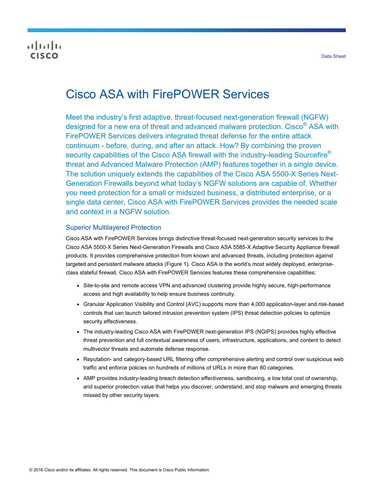 Cisco ASA with FirePOWER Services Data Sheet   manualzz com