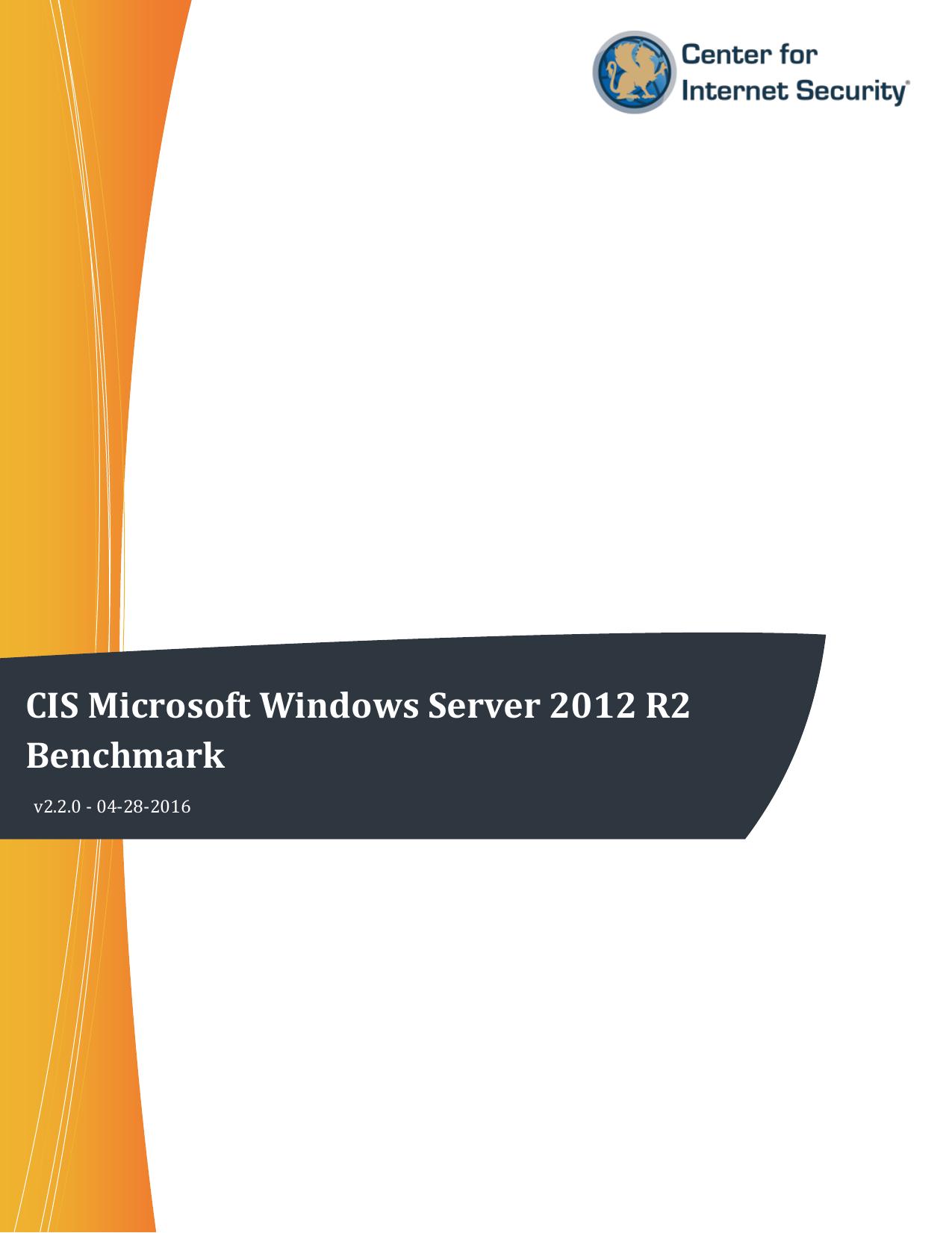 CIS Microsoft Windows Server 2012 R2 | manualzz com
