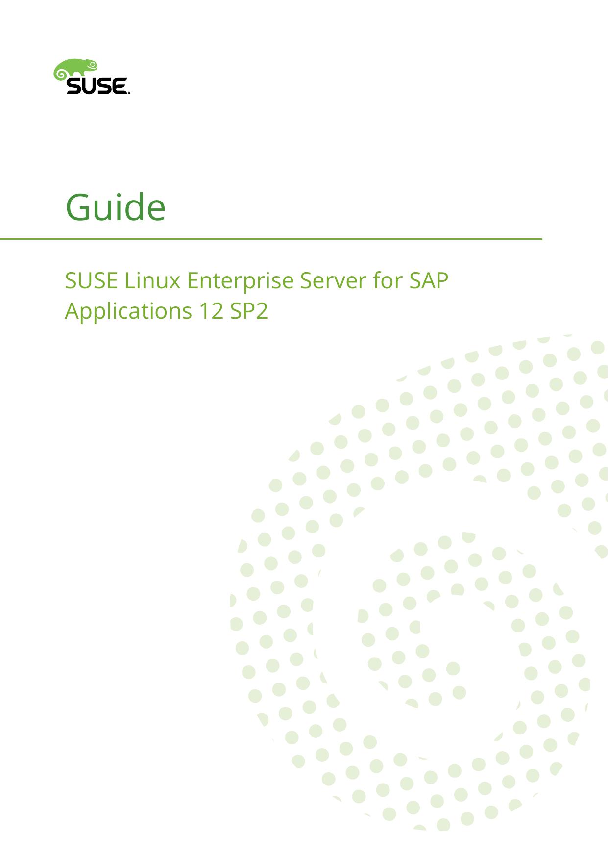 Guide - SUSE Linux Enterprise Server for SAP Applications 12 SP2