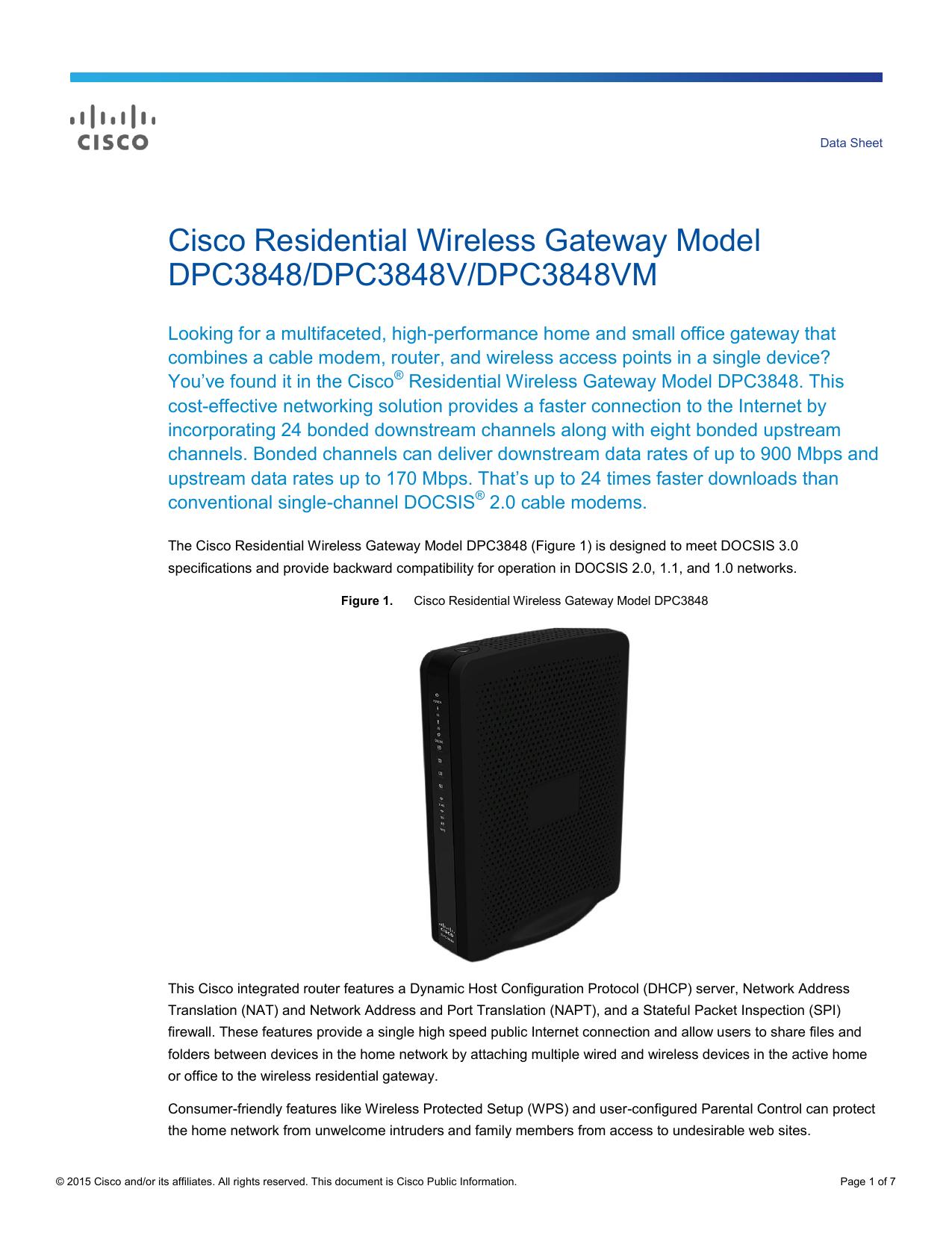 Technicolor DPC3941B DOCSIS 3.0 24x4 Wireless Business Gateway ...