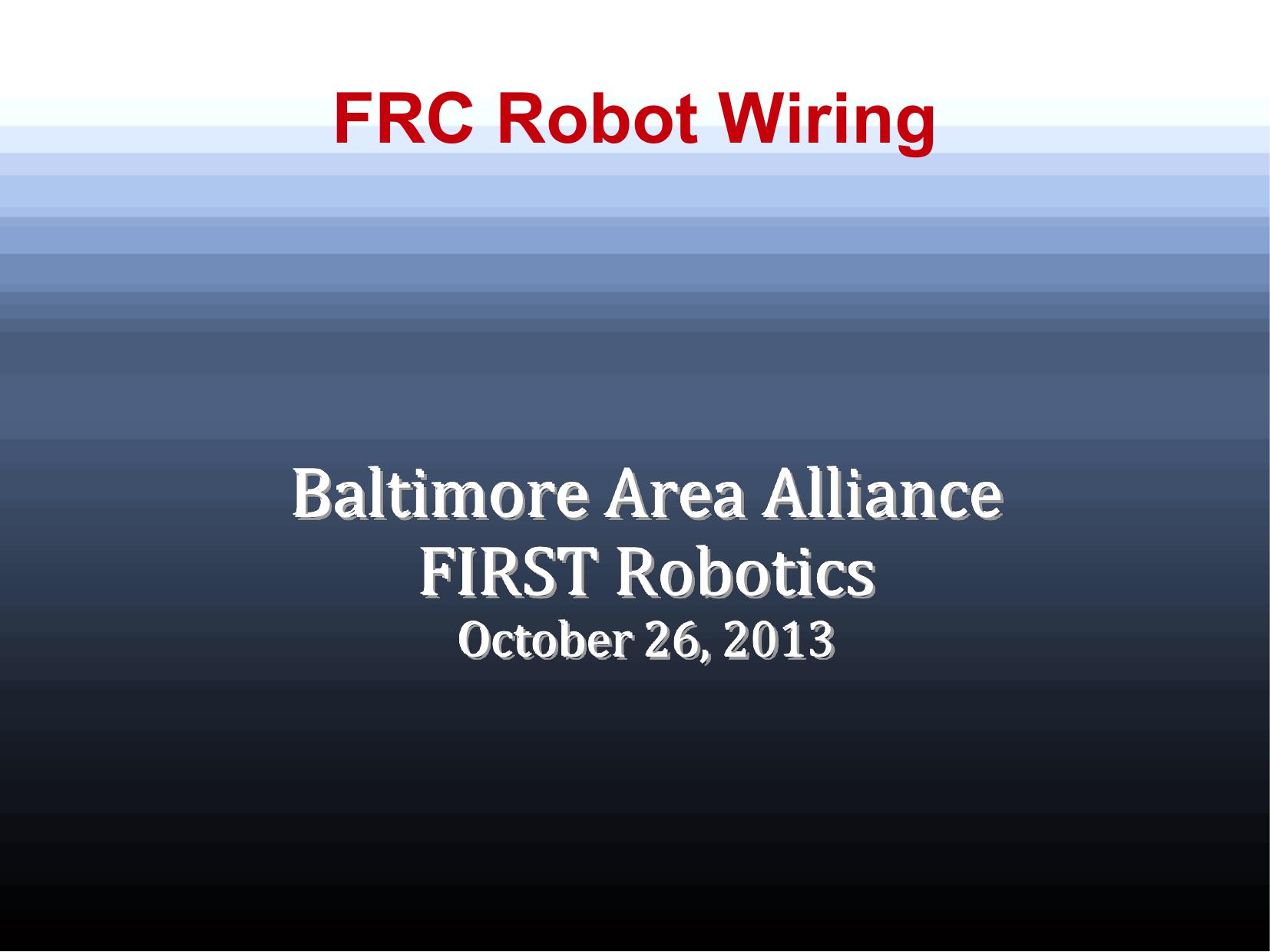 FRC Robot Wiring - Maryland FIRST Robotics | manualzz.com on