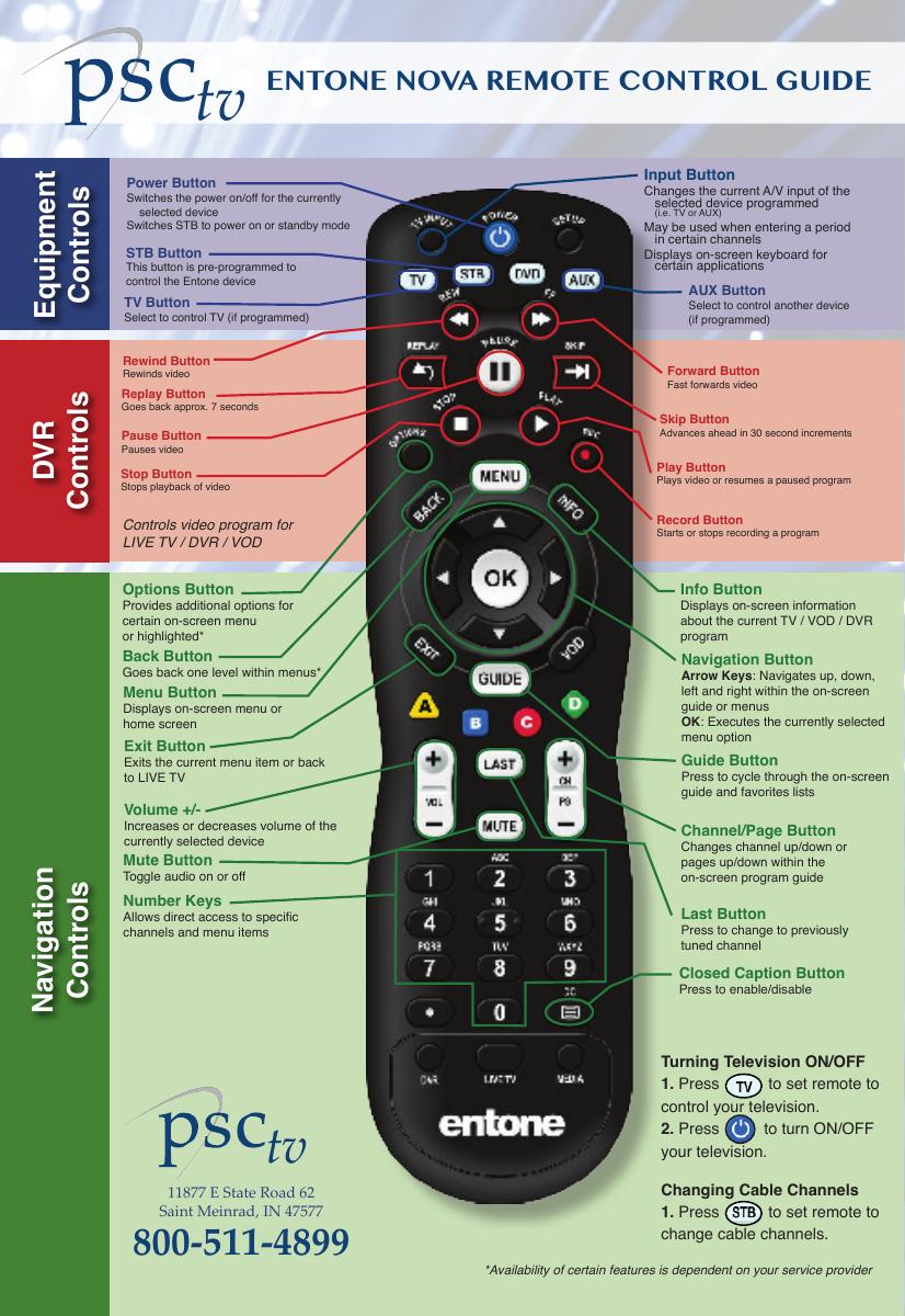 entone hydra remote control