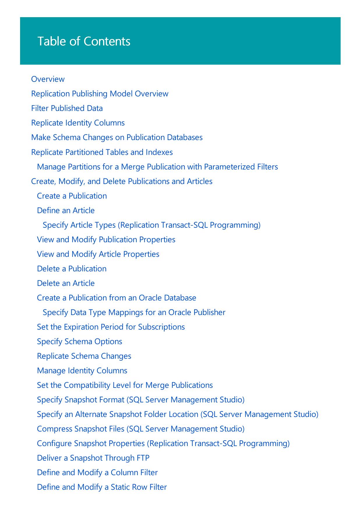 Publish Data and Database Objects | Microsoft Docs