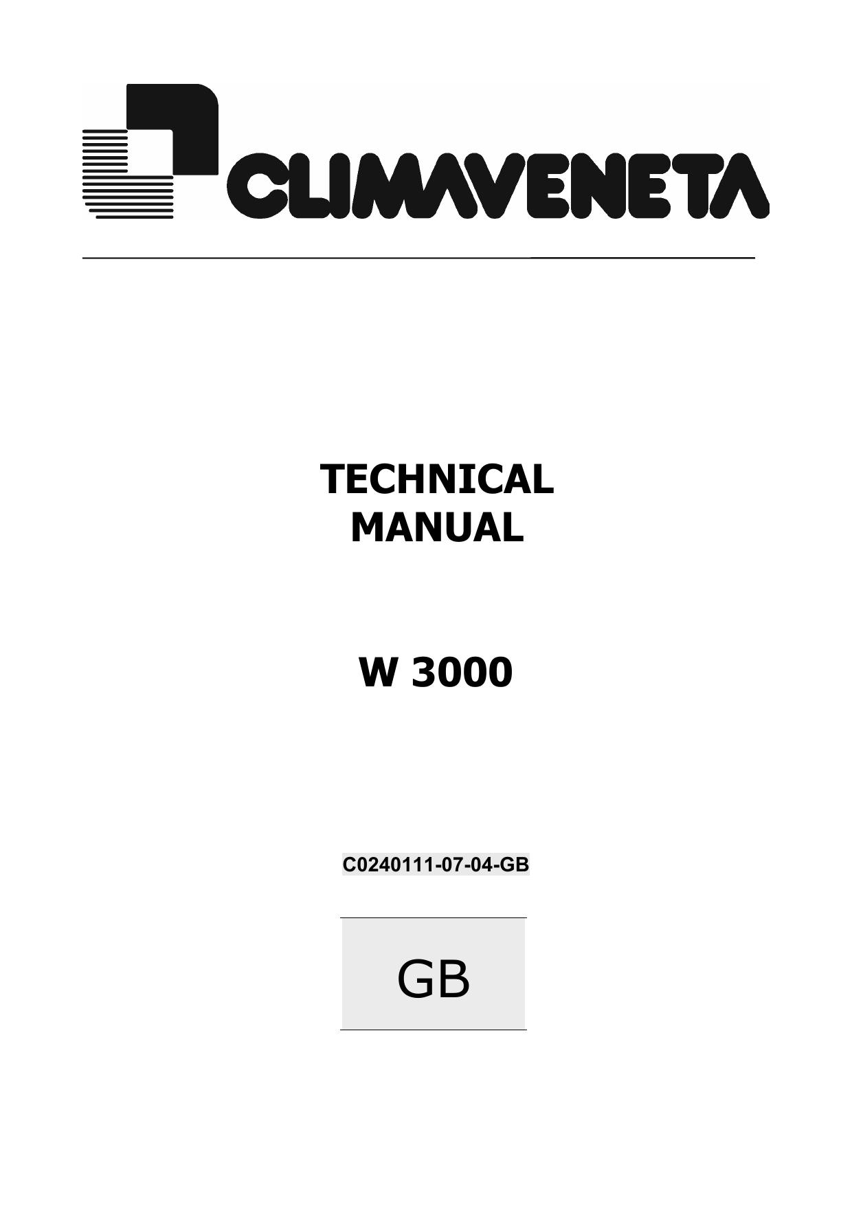 TECHNICAL MANUAL W 3000 | manualzz com