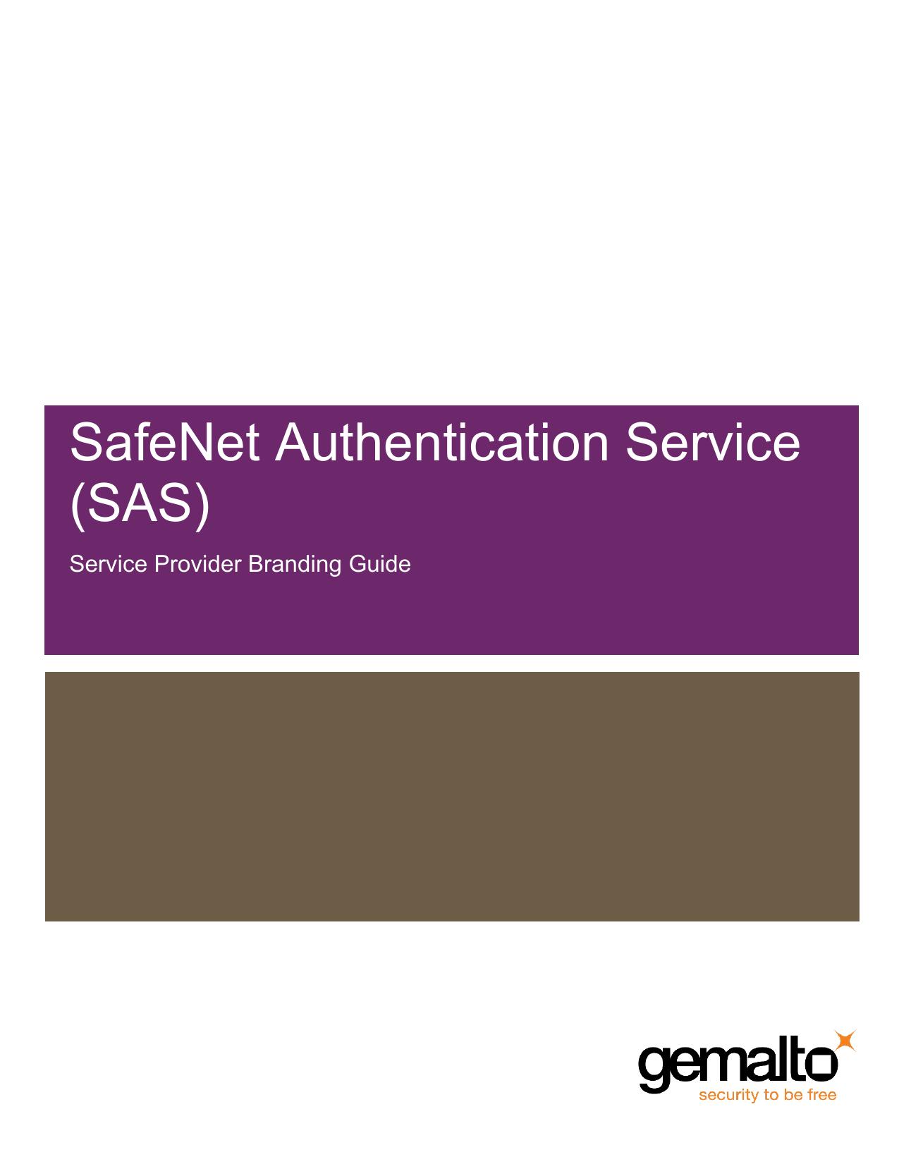 SafeNet Authentication Service (SAS)   manualzz com