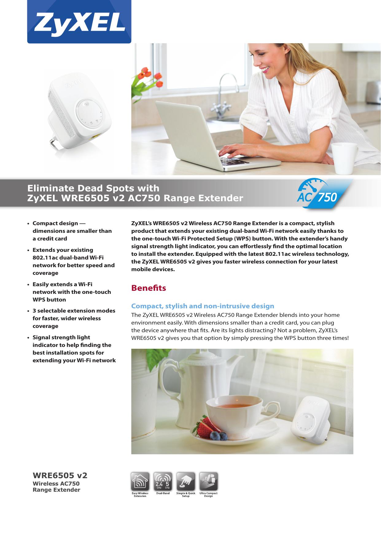 Eliminate Dead Spots with ZyXEL WRE6505 v2 AC750 Range