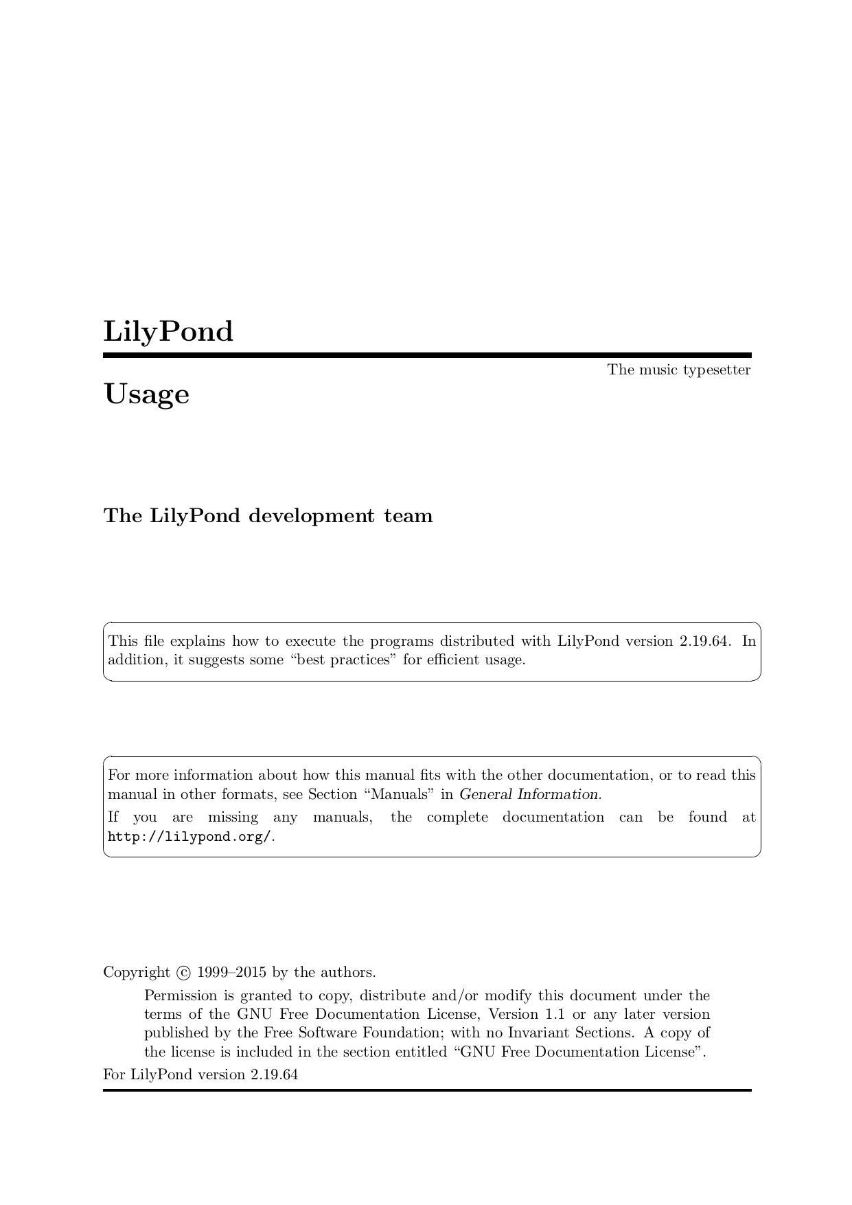 LilyPond Usage | manualzz com