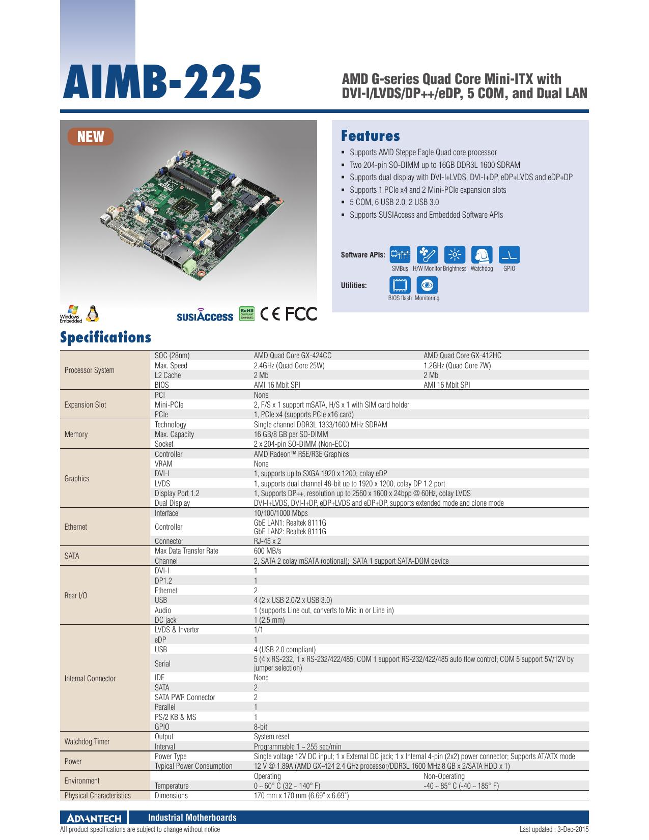 AIMB-225 - Advantech | manualzz com