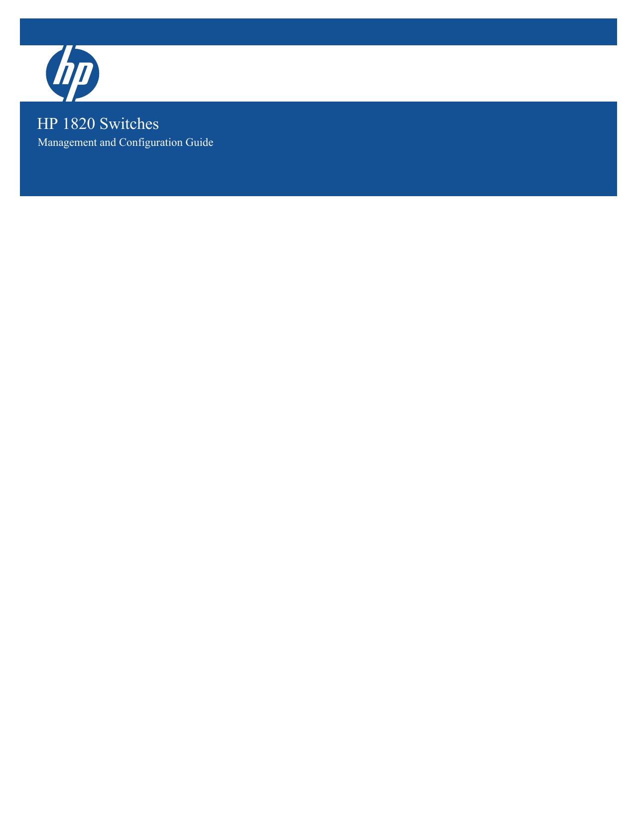 HP 1810-48G Management and Configuration Guide | manualzz com