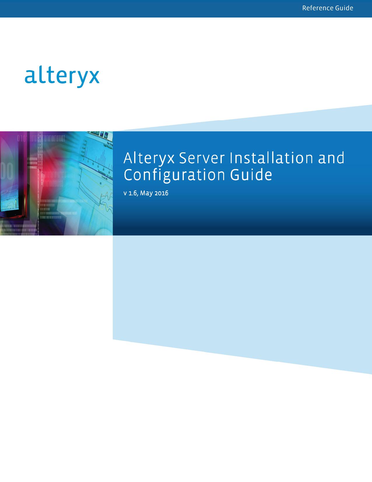 Alteryx Server Installation and Configuration Guide Configuration