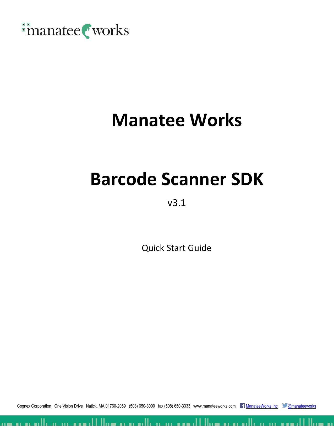 Manatee Works Barcode Scanner SDK | manualzz com